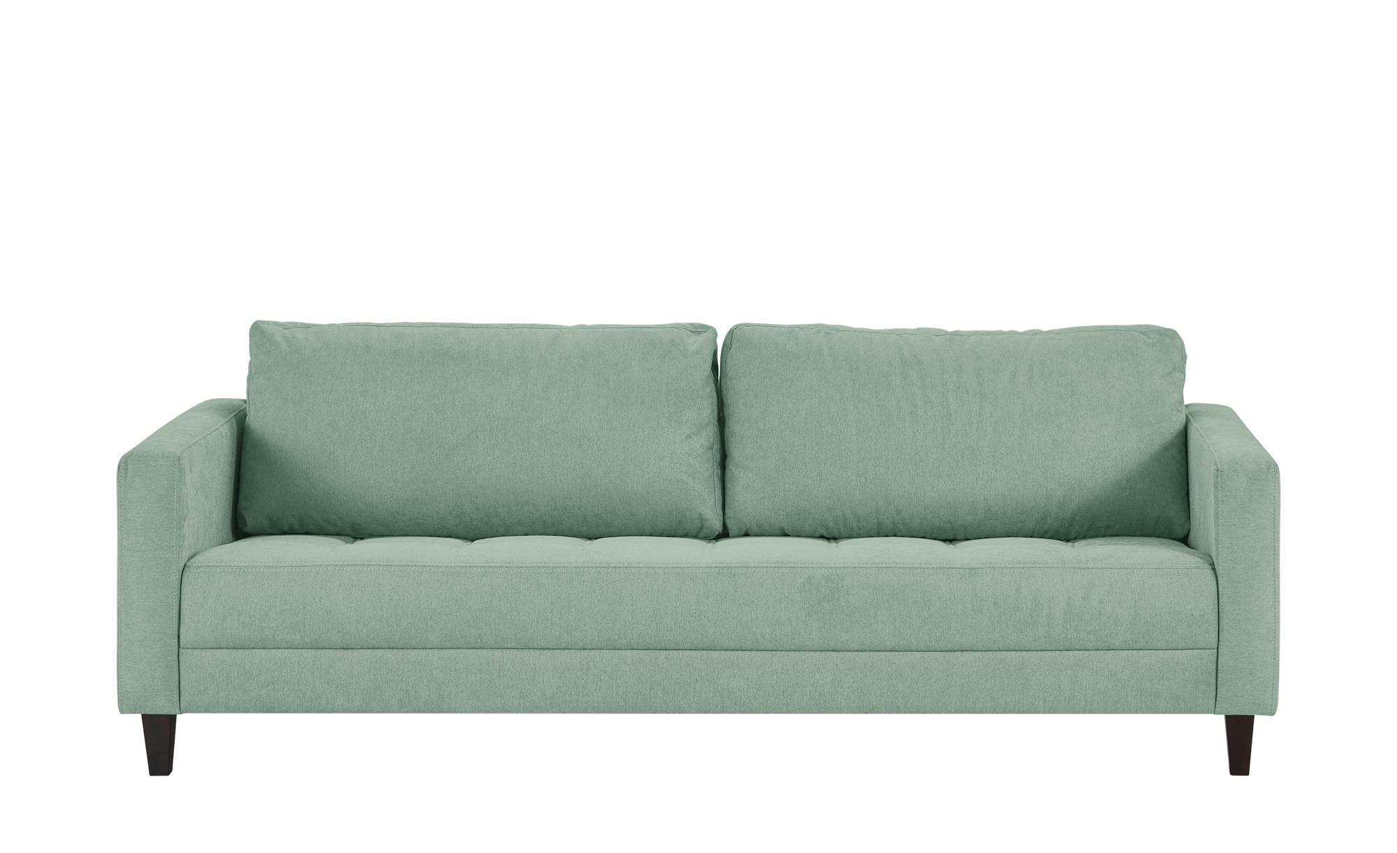 smart Sofa mintgrün - Flachgewebe Geradine ¦ grün ¦ Maße (cm): B: 228 H: 83 T: 91 Polstermöbel > Sofas > 3-Sitzer - Höffner