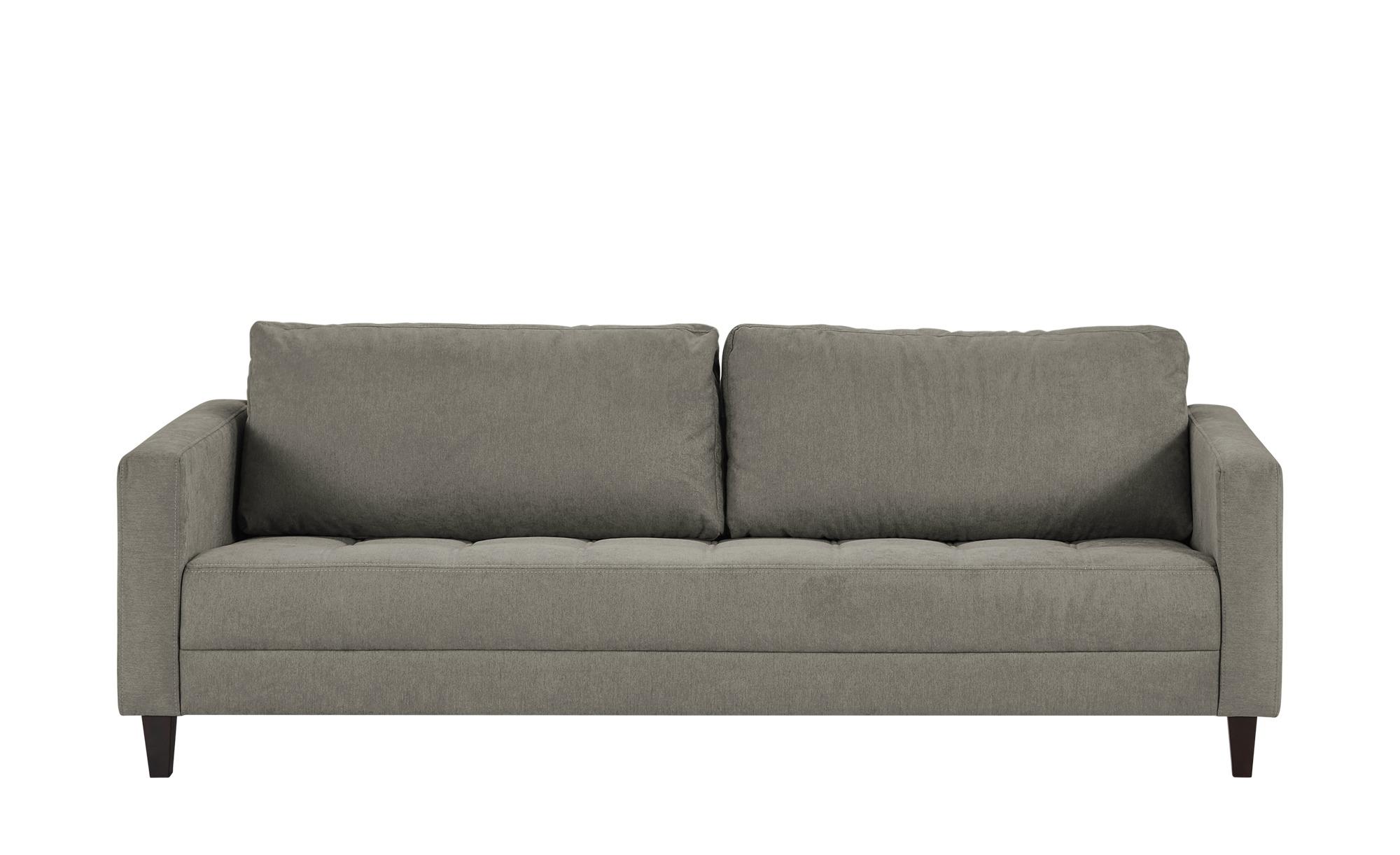 smart Sofa grau-braun - Flachgewebe Geradine ¦ grau ¦ Maße (cm): B: 228 H: 83 T: 91 Polstermöbel > Sofas > 3-Sitzer - Höffner