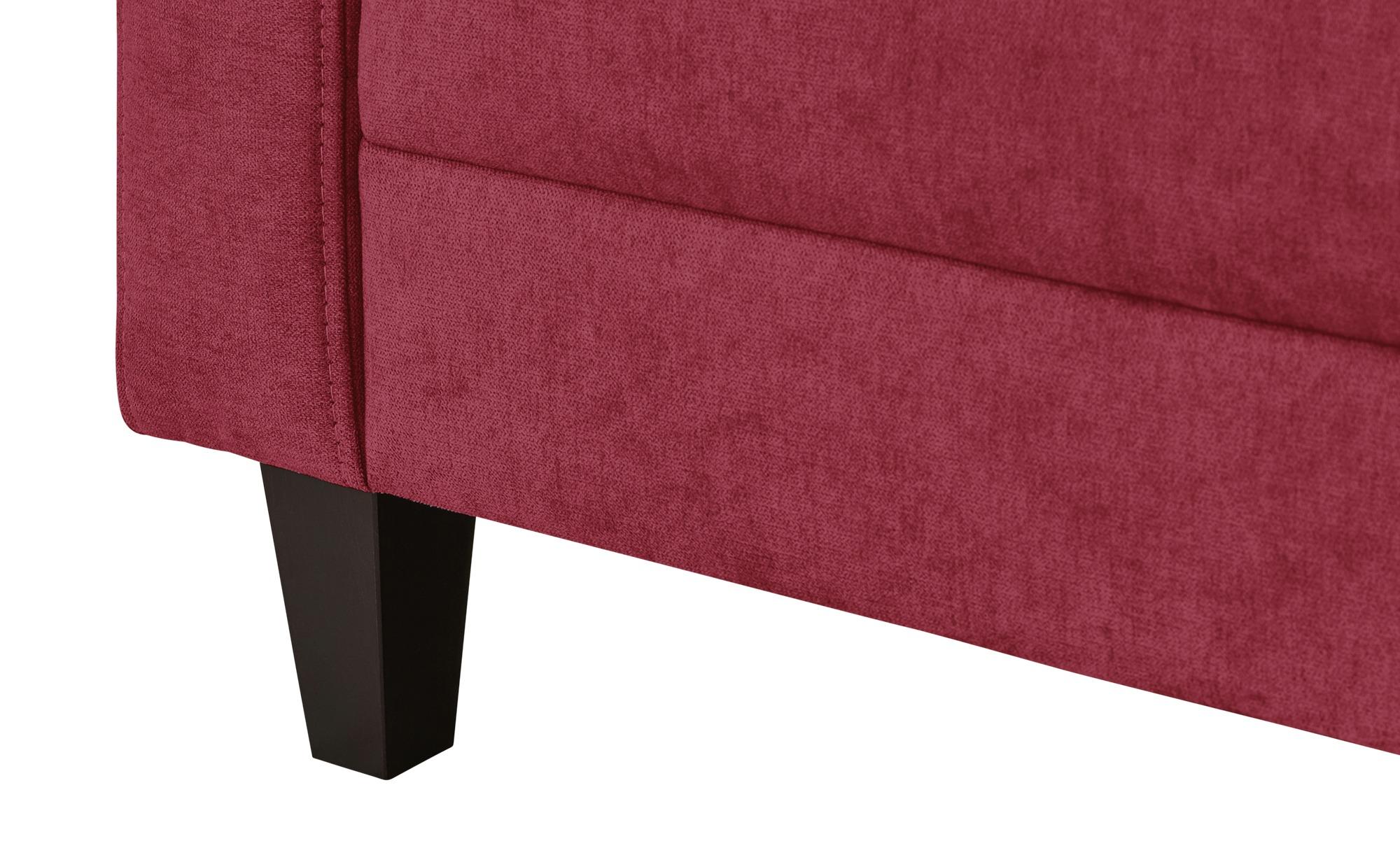 smart Sofa rot - Flachgewebe Geradine ¦ rot ¦ Maße (cm): B: 228 H: 83 T: 91 Polstermöbel > Sofas > 3-Sitzer - Höffner