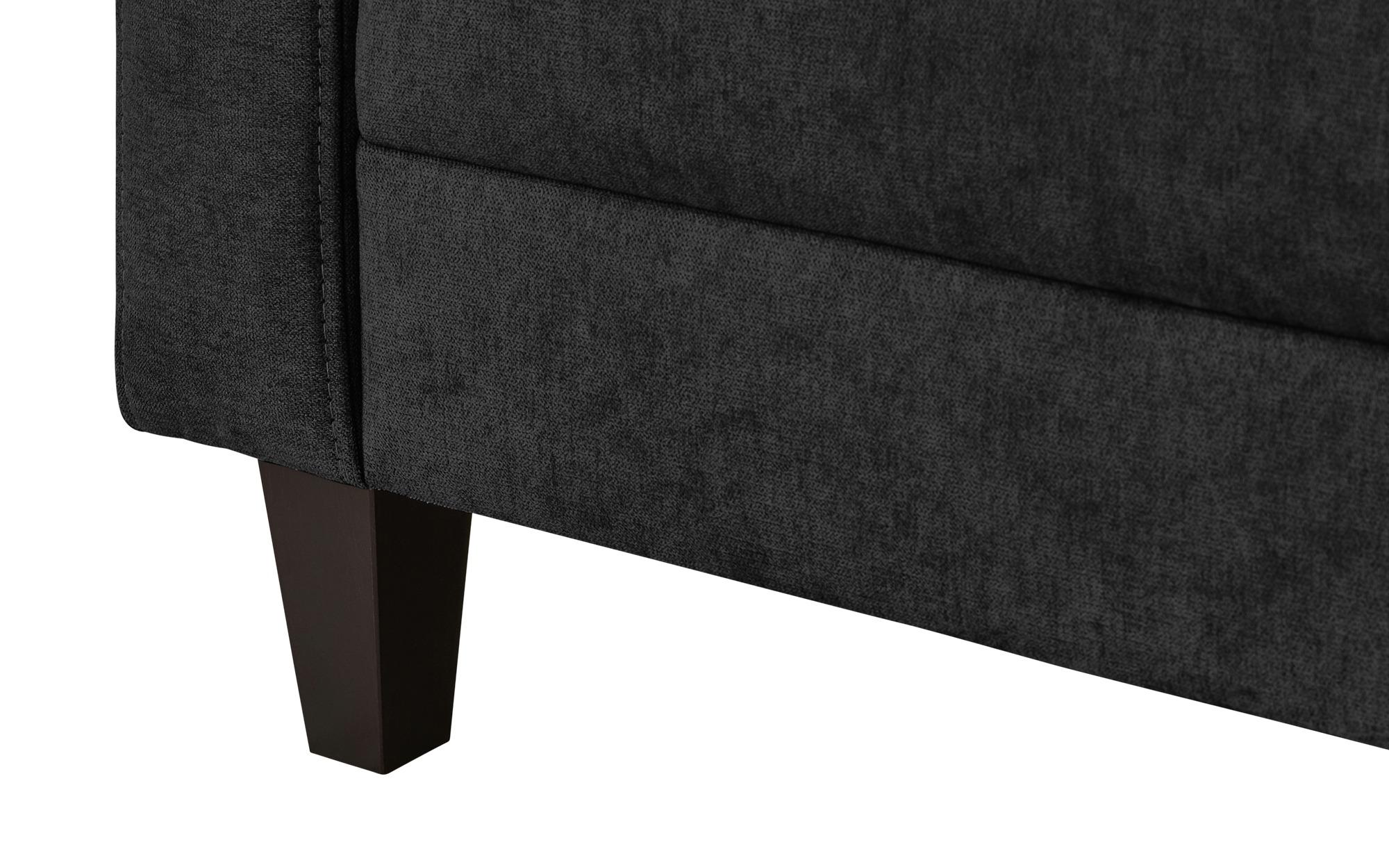 smart Sofa schwarz - Flachgewebe Geradine ¦ schwarz ¦ Maße (cm): B: 228 H: 83 T: 91 Polstermöbel > Sofas > 3-Sitzer - Höffner