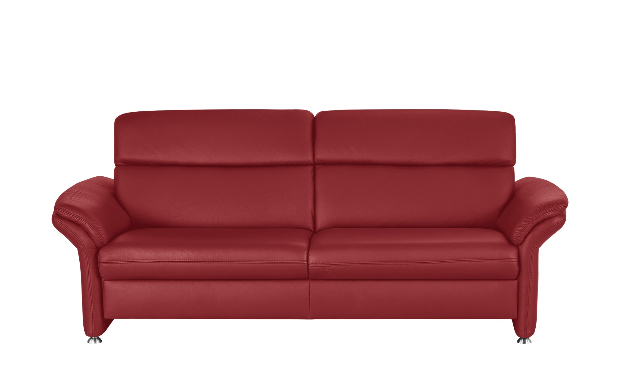 Meinsofa Ledersofa Rot Leder Manon 3 Sitzer Rosso Rot