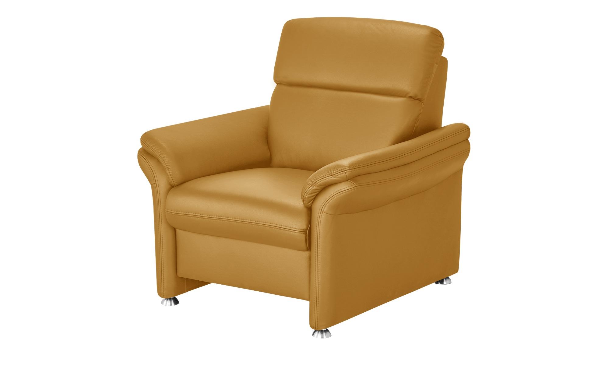 meinSofa Ledersessel gelb - Leder Manon ¦ gelb ¦ Maße (cm): B: 98 H: 94 T: 92 Polstermöbel > Sessel > Ledersessel - Höffner