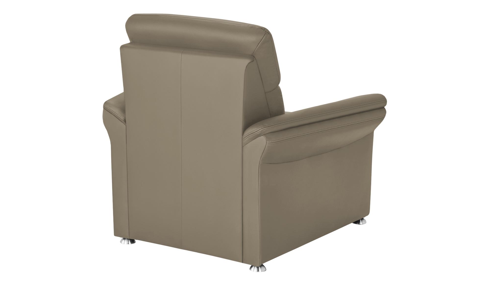 meinSofa Ledersessel grau - Leder Manon ¦ grau ¦ Maße (cm): B: 98 H: 94 T: 92 Polstermöbel > Sessel > Ledersessel - Höffner