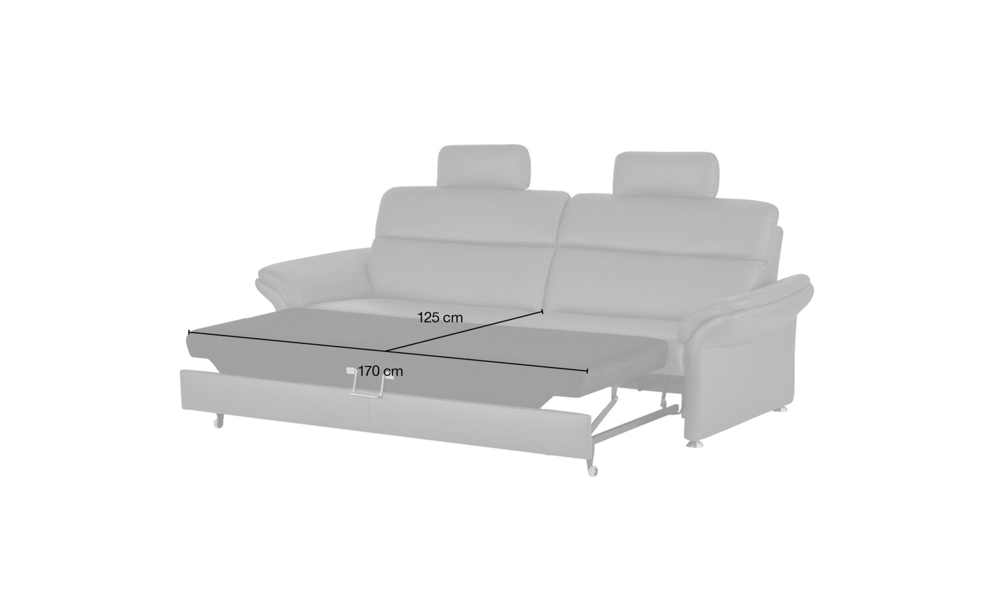 #meinSofa Ledersofa dunkelrot – Leder Manon ¦ lila/violett ¦ Maße (cm): B: 228 H: 94 T: 92 Polstermöbel > Sofas > 3-Sitzer – Höffner#