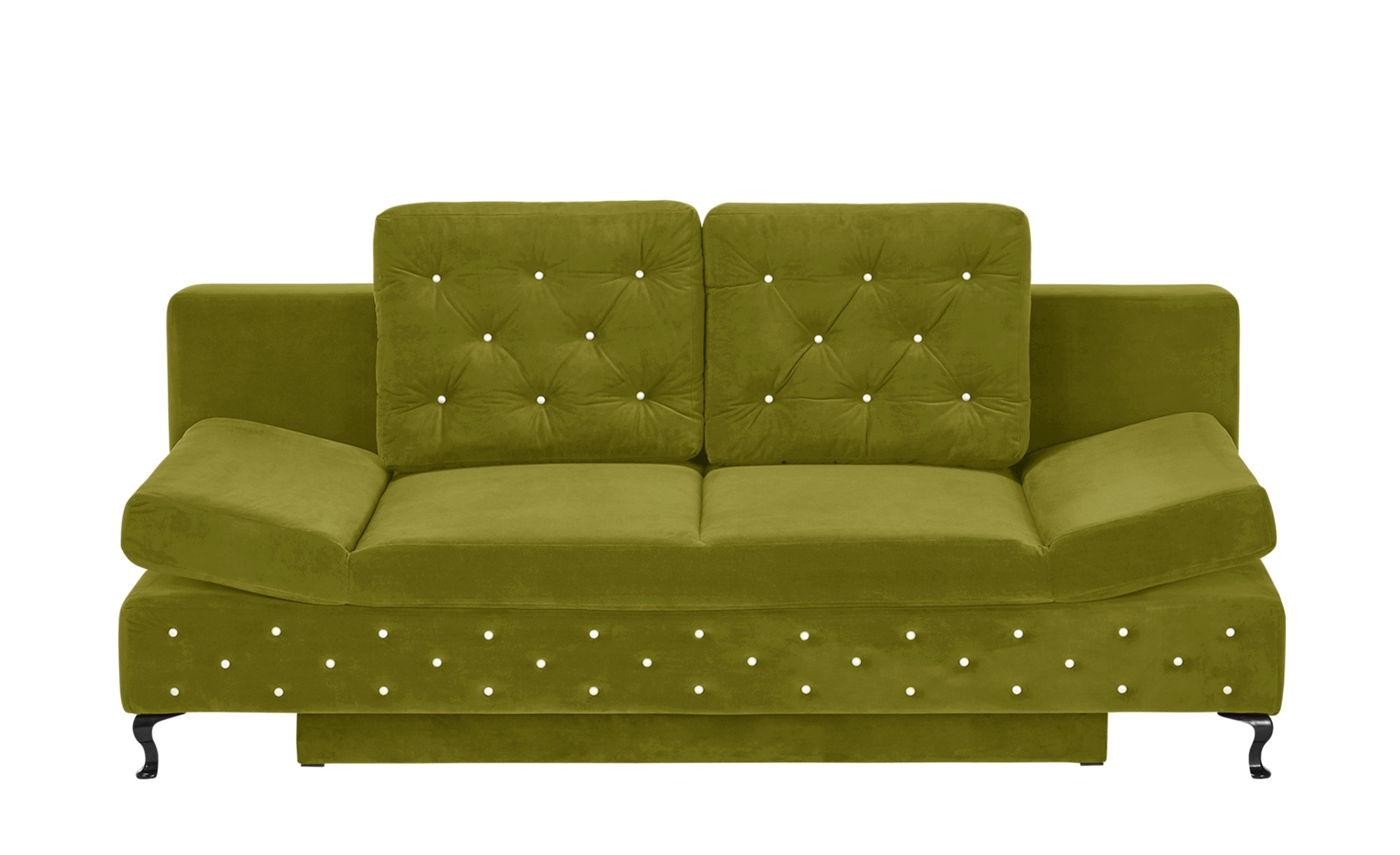 switch Schlafsofa olivgrün - Mikrofaser Riviera ¦ grün ¦ Maße (cm): B: 202 H: 75 T: 94 Polstermöbel > Sofas > Einzelsofas - Höffner