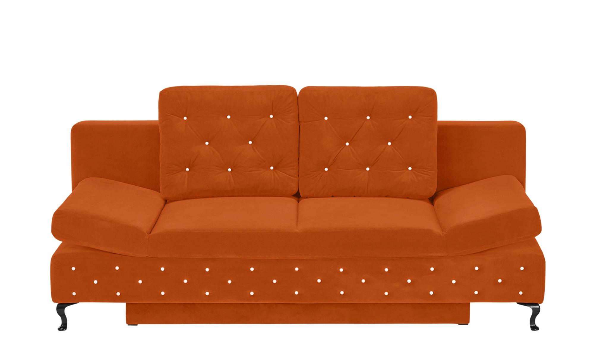 switch Schlafsofa orange - Mikrofaser Riviera ¦ orange ¦ Maße (cm): B: 202 H: 75 T: 94 Polstermöbel > Sofas > Einzelsofas - Höffner | Wohnzimmer > Sofas & Couches > Schlafsofas | Orange | Mikrofaser - Polyester | Möbel Höffner DE