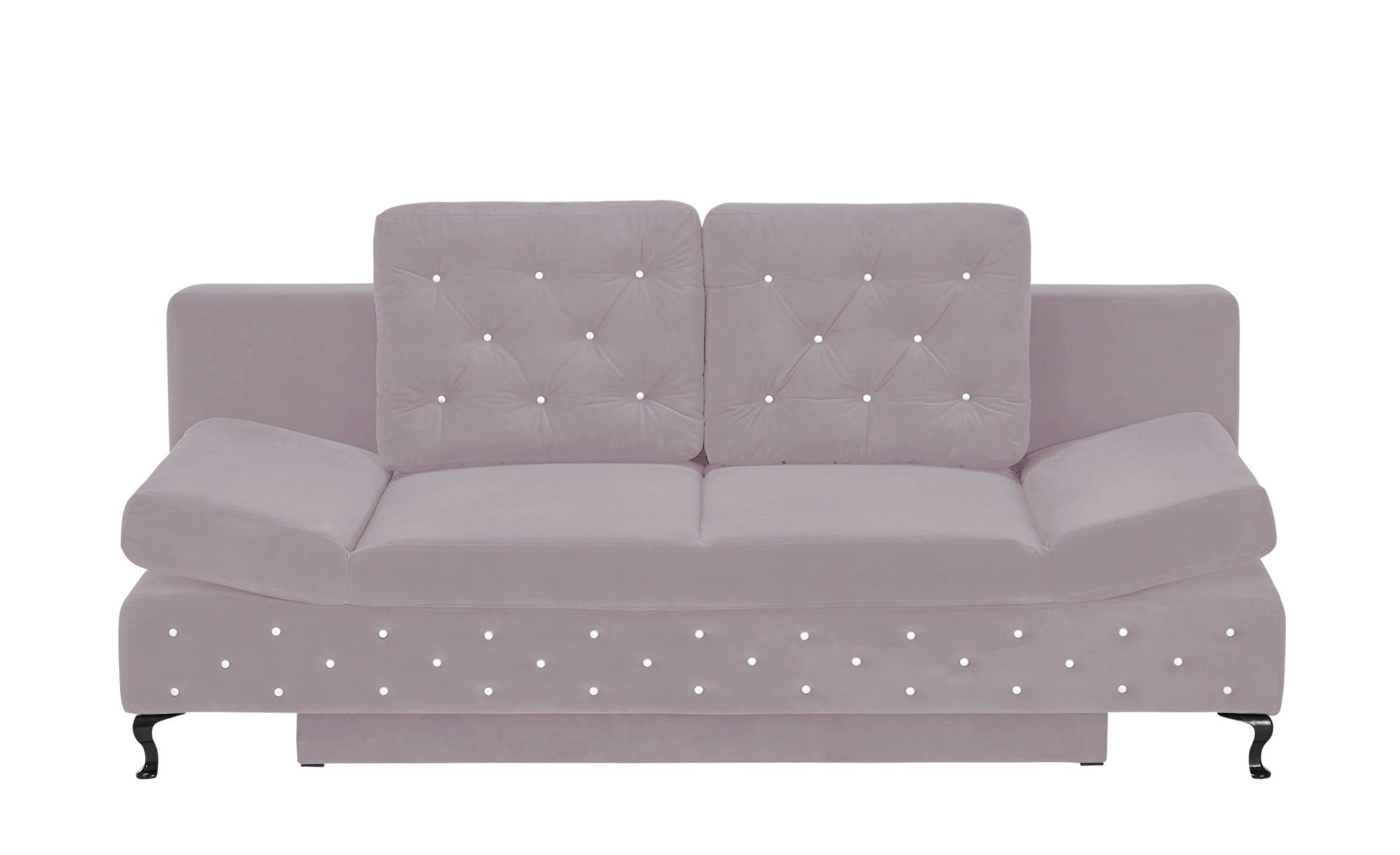 switch Schlafsofa altrosa - Mikrofaser Riviera ¦ rosa/pink ¦ Maße (cm): B: 202 H: 75 T: 94 Polstermöbel > Sofas > Einzelsofas - Höffner