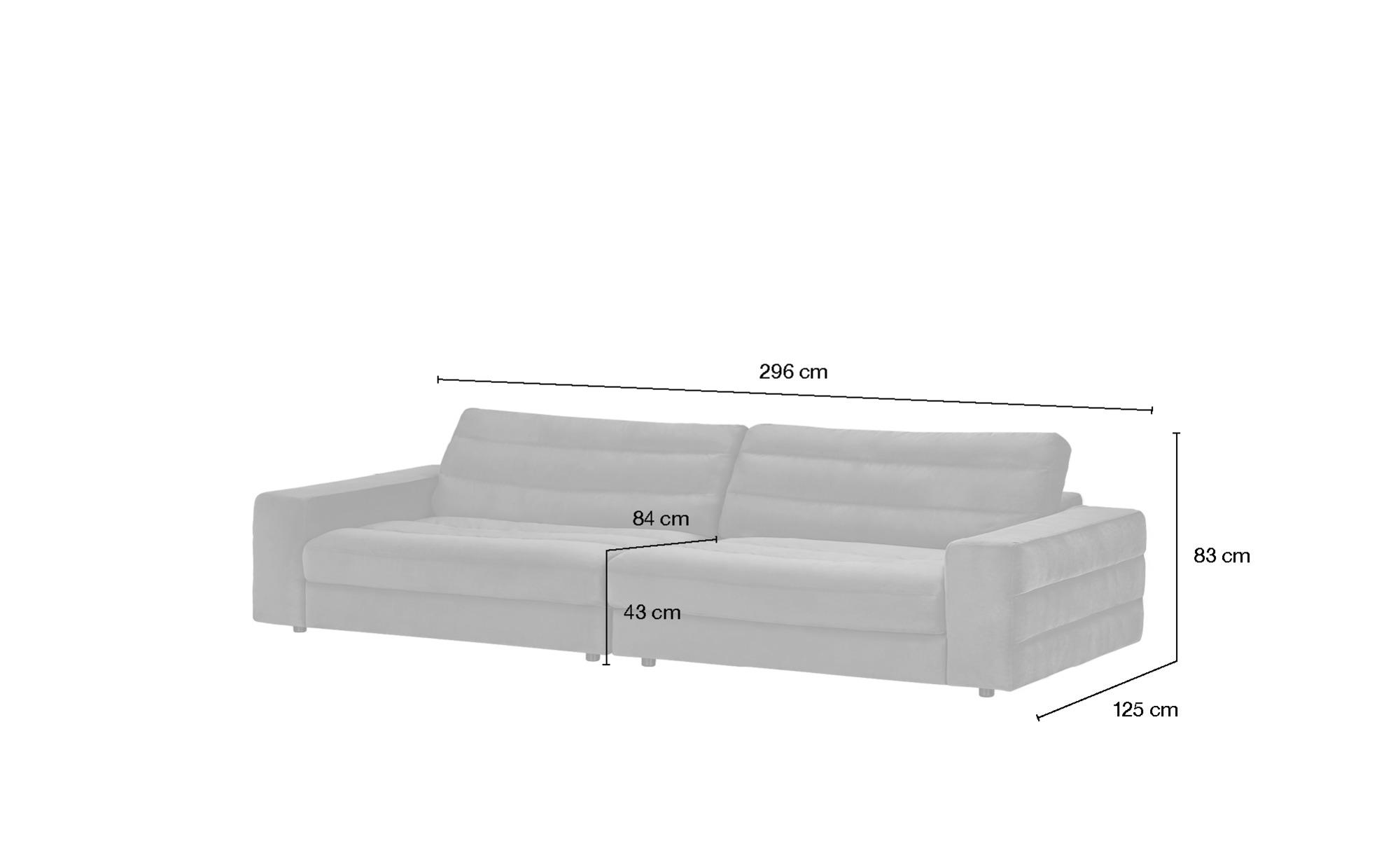 pop Big Sofa  Scarlatti ¦ grün ¦ Maße (cm): B: 296 H: 83 T: 125 Polstermöbel > Sofas > Big-Sofas - Höffner