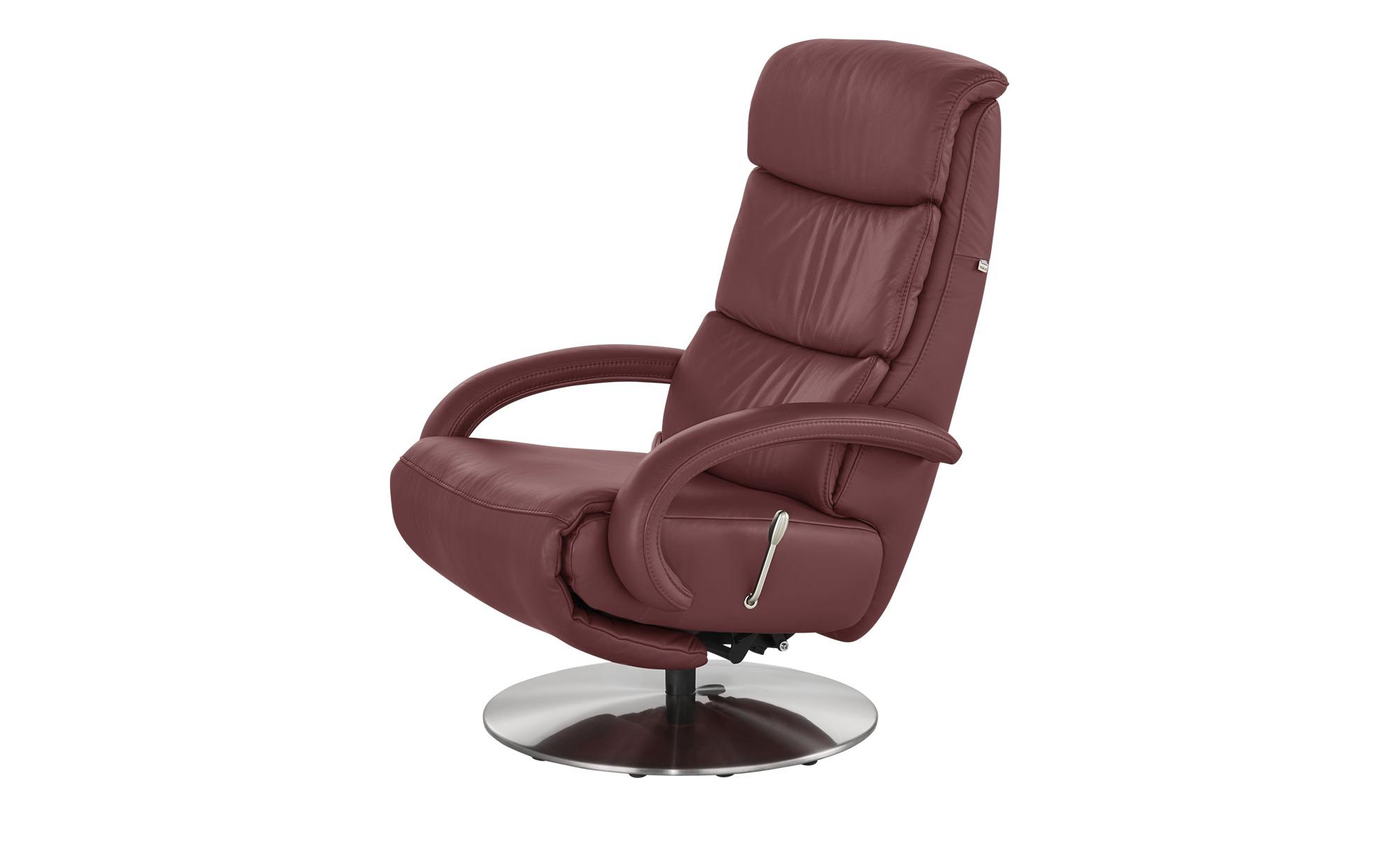 Hukla Leder-Relaxsessel rot - Leder Florian ¦ rot ¦ Maße (cm): B: 73 T: 91 Polstermöbel > Sessel > Fernsehsessel - Höffner