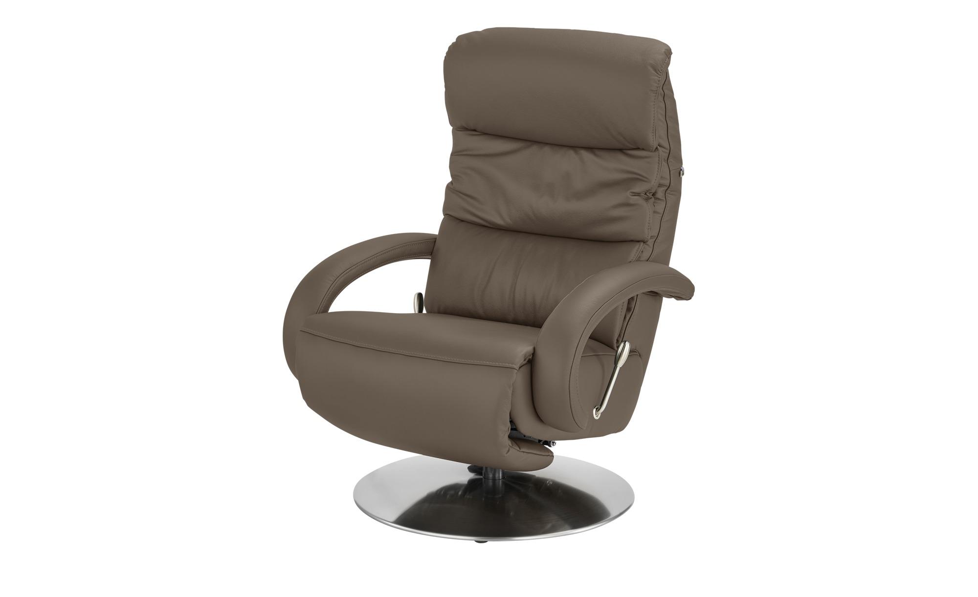 Hukla Leder-Relaxsessel braun - Leder Florian ¦ braun ¦ Maße (cm): B: 73 T: 91 Polstermöbel > Sessel > Fernsehsessel - Höffner