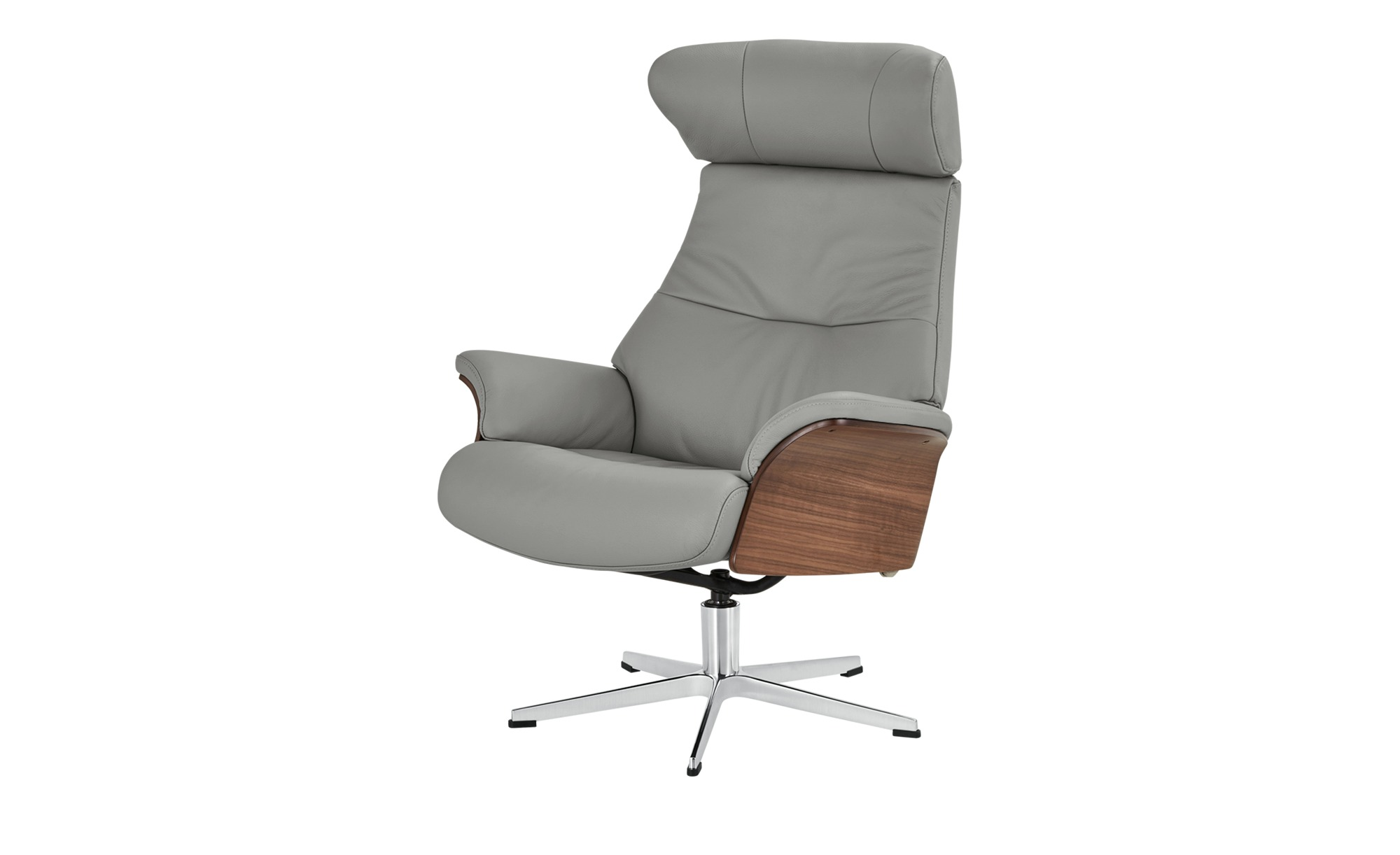 Relaxsessel grau - Leder Air ¦ grau ¦ Maße (cm): B: 80 H: 109,5 T: 78 Polstermöbel > Sessel > Fernsehsessel - Höffner
