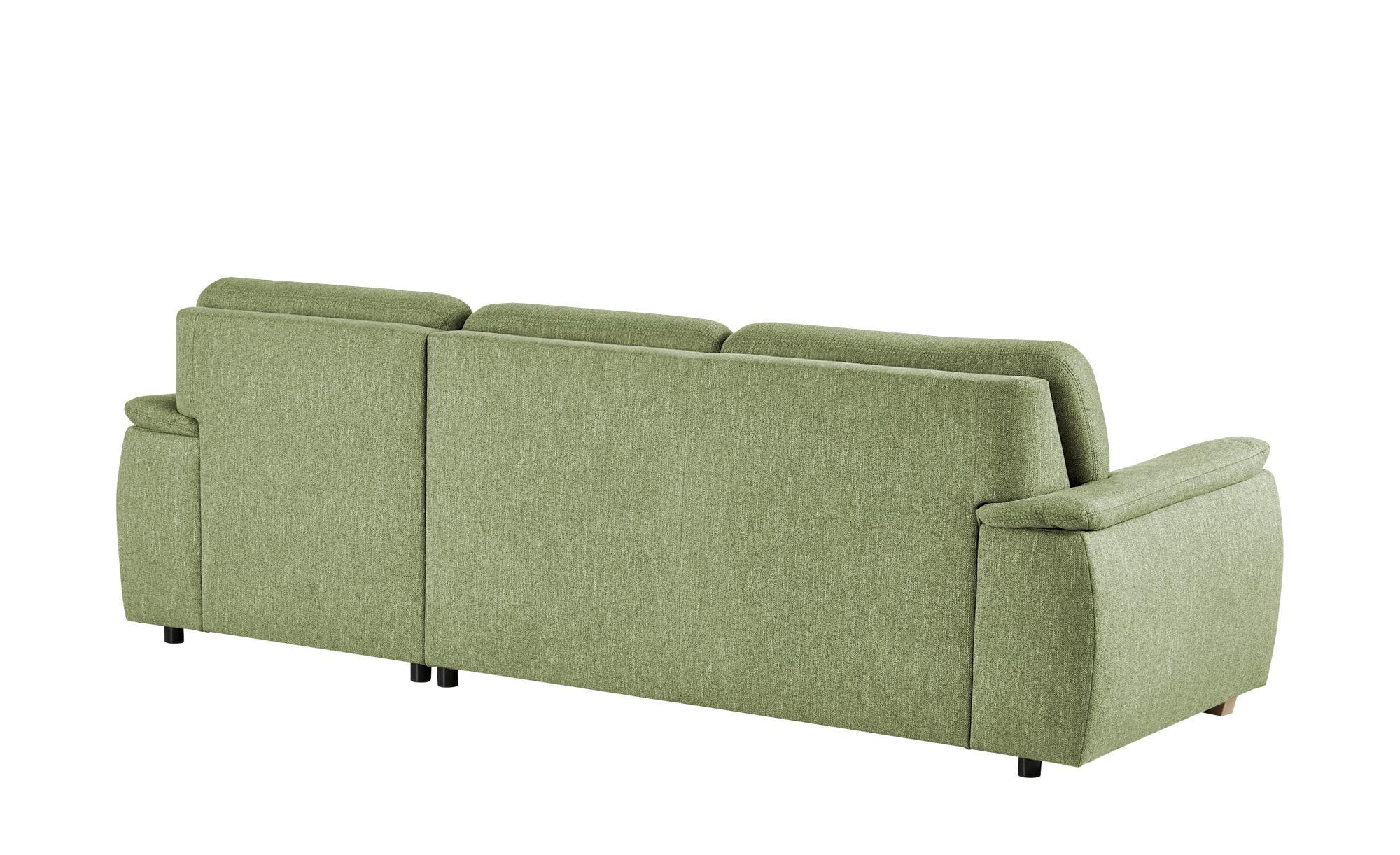 smart Ecksofa grün - Webstoff Valencia ¦ grün ¦ Maße (cm): B: 281 H: 90 T: 170 Polstermöbel > Sofas > Ecksofas - Höffner
