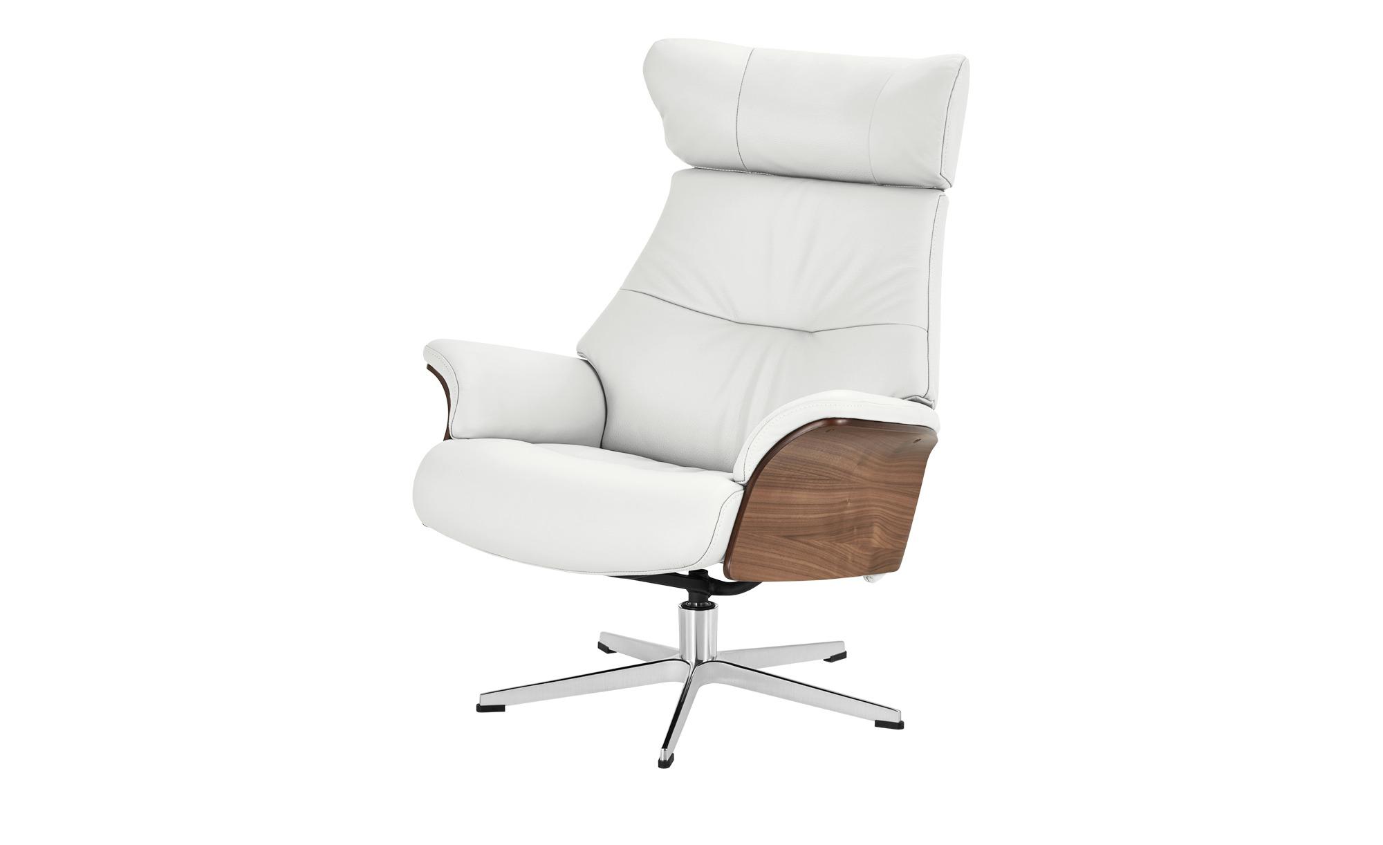 Relaxsessel weiß - Leder Air ¦ weiß ¦ Maße (cm): B: 80 H: 101 T: 78 Polstermöbel > Sessel > Fernsehsessel - Höffner