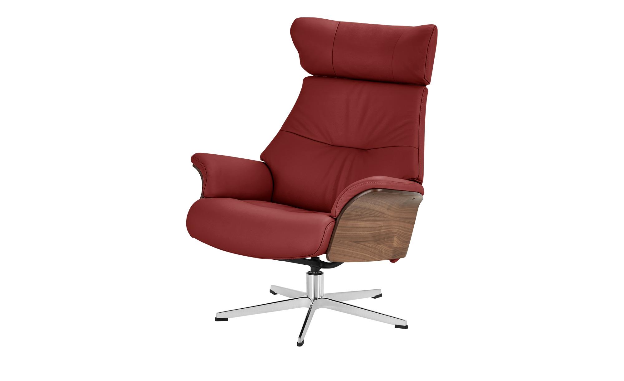 Relaxsessel rot - Leder Air ¦ rot ¦ Maße (cm): B: 80 H: 101 T: 78 Polstermöbel > Sessel > Fernsehsessel - Höffner