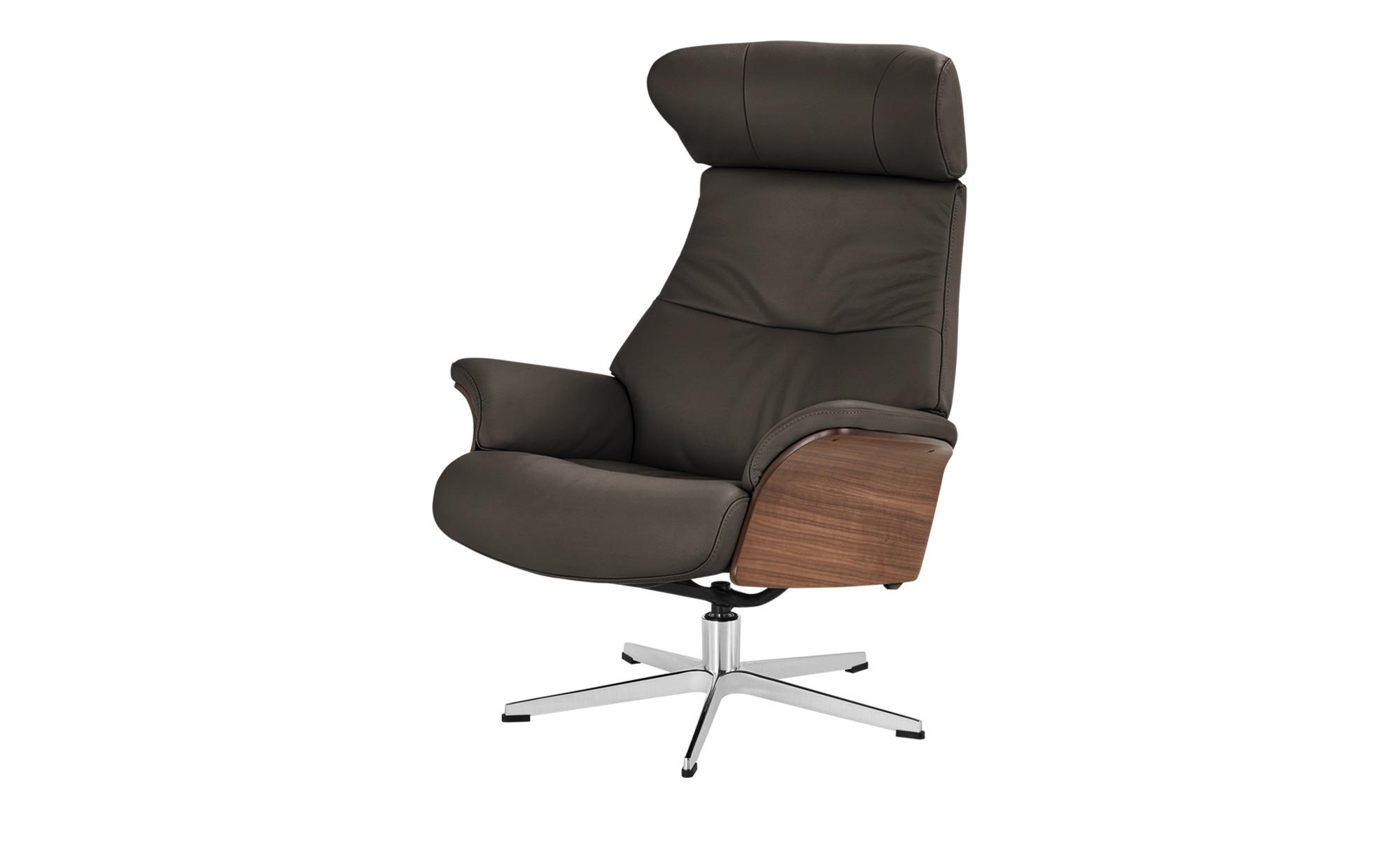 Relaxsessel braun - Leder Air ¦ braun ¦ Maße (cm): B: 80 H: 106 T: 78 Polstermöbel > Sessel > Fernsehsessel - Höffner