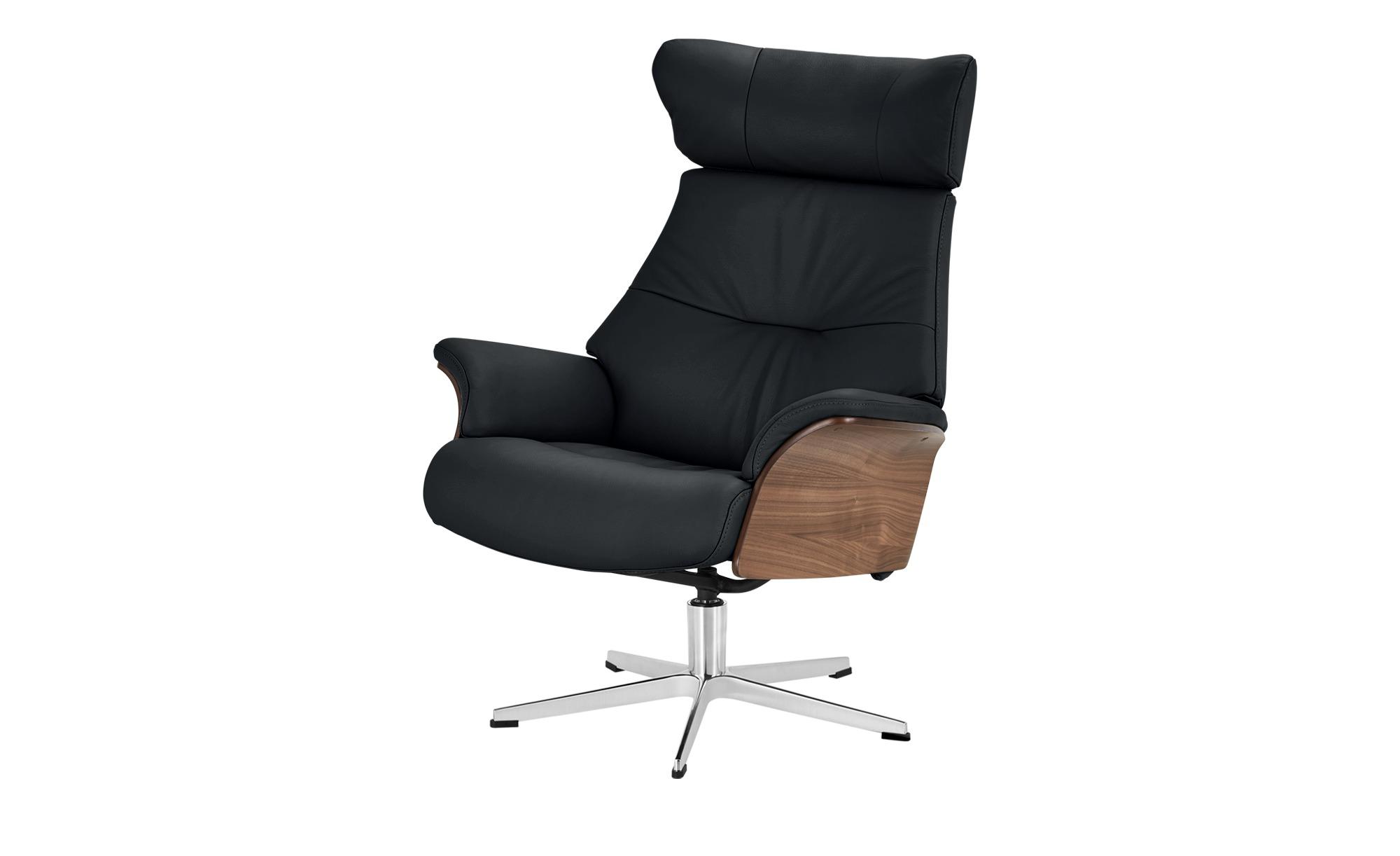 Relaxsessel schwarz - Leder Air ¦ schwarz ¦ Maße (cm): B: 80 H: 104,5 T: 78 Polstermöbel > Sessel > Fernsehsessel - Höffner