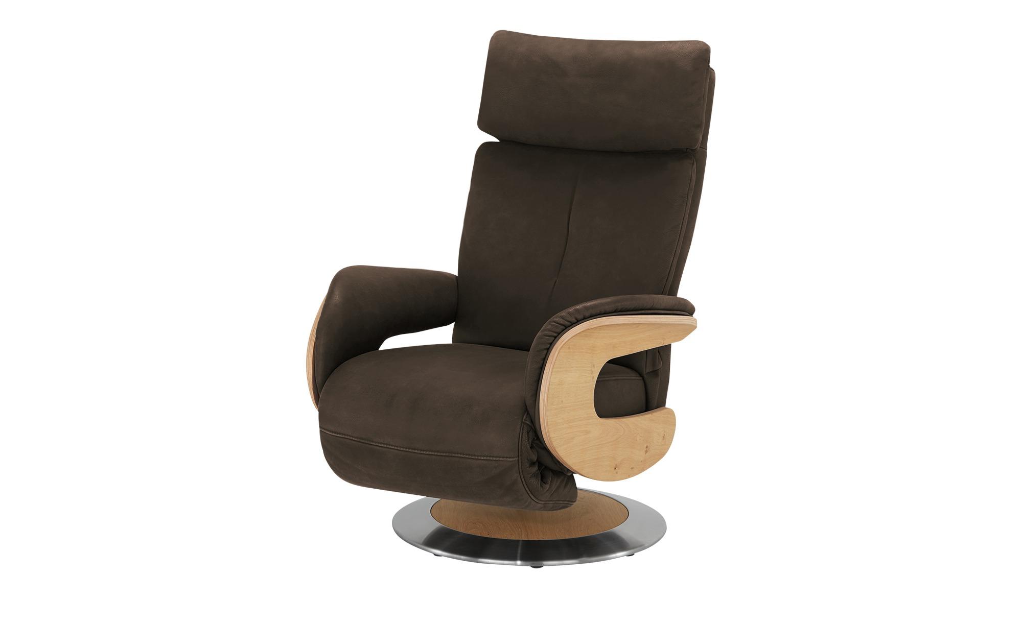 himolla Funktionssessel Leder  7818 ¦ braun ¦ Maße (cm): B: 75 H: 112 T: 87 Polstermöbel > Sessel > Fernsehsessel - Höffner