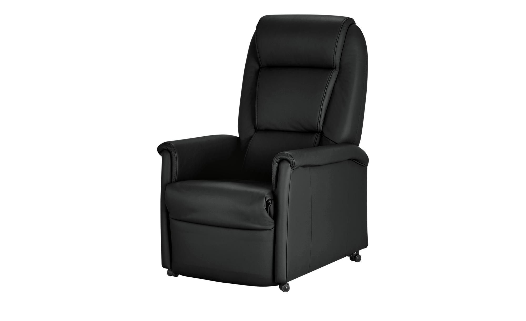himolla Fernsehsessel schwarz - Leder 9773 ¦ schwarz ¦ Maße (cm): B: 69 H: 105 T: 82 Polstermöbel > Sessel > Fernsehsessel - Höffner