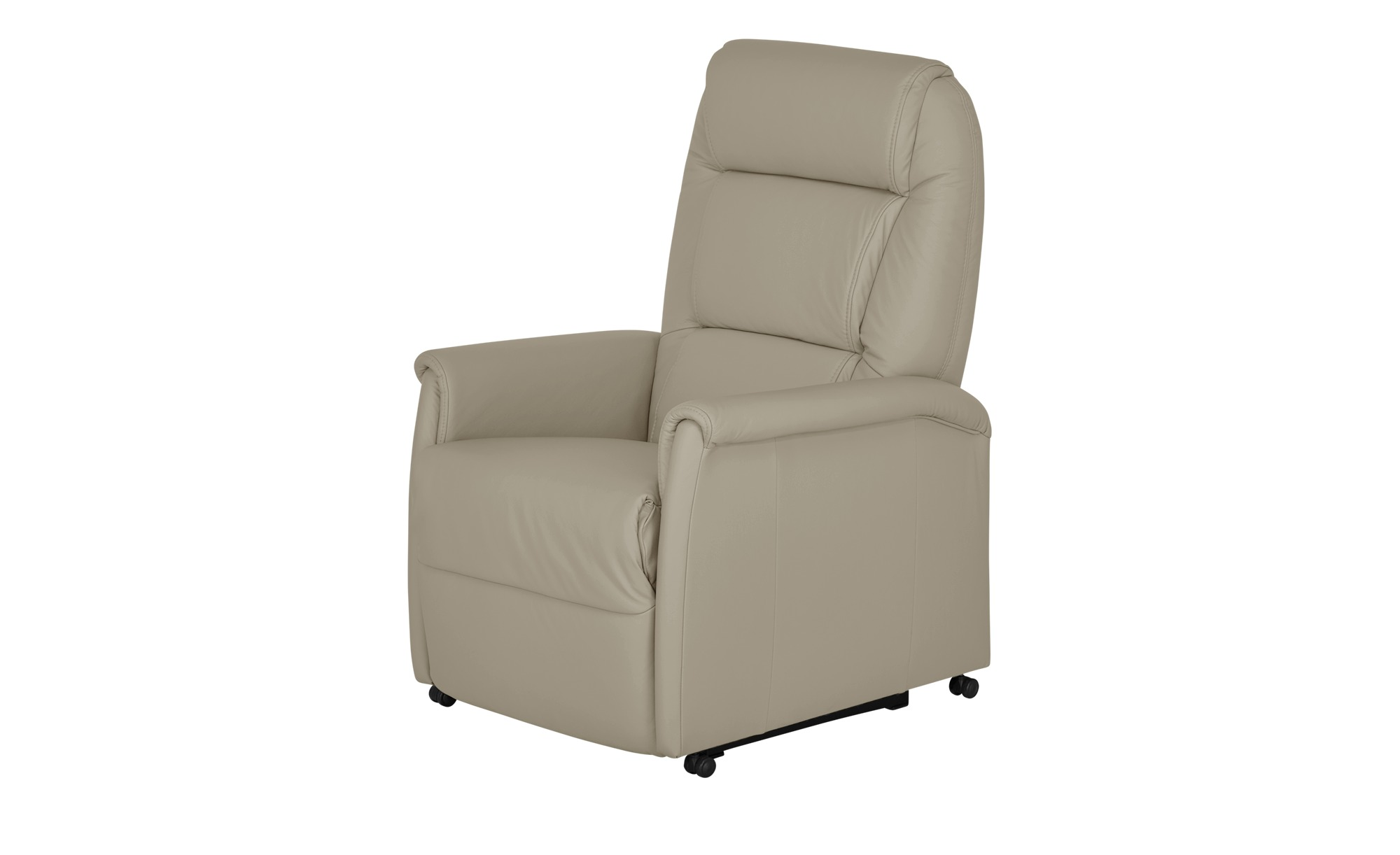 Fernsehsessel grau - Leder Femke ¦ grau ¦ Maße (cm): B: 74 H: 110 T: 85 Polstermöbel > Sessel > Fernsehsessel - Höffner