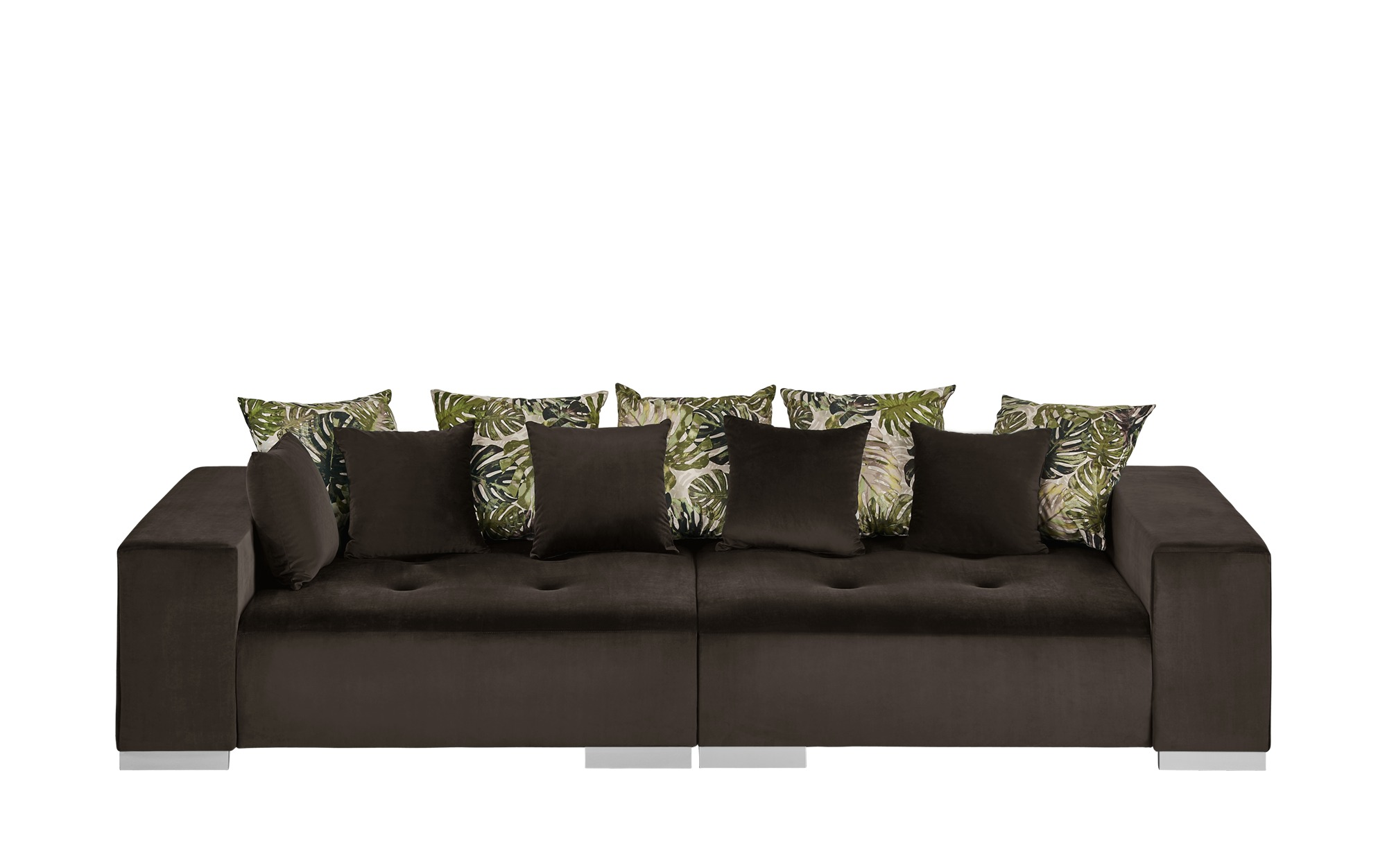 switch Big Sofa braun - Mikrofaser Kim ¦ braun ¦ Maße (cm): B: 300 H: 85 T: 136 Polstermöbel > Sofas > Big-Sofas - Höffner