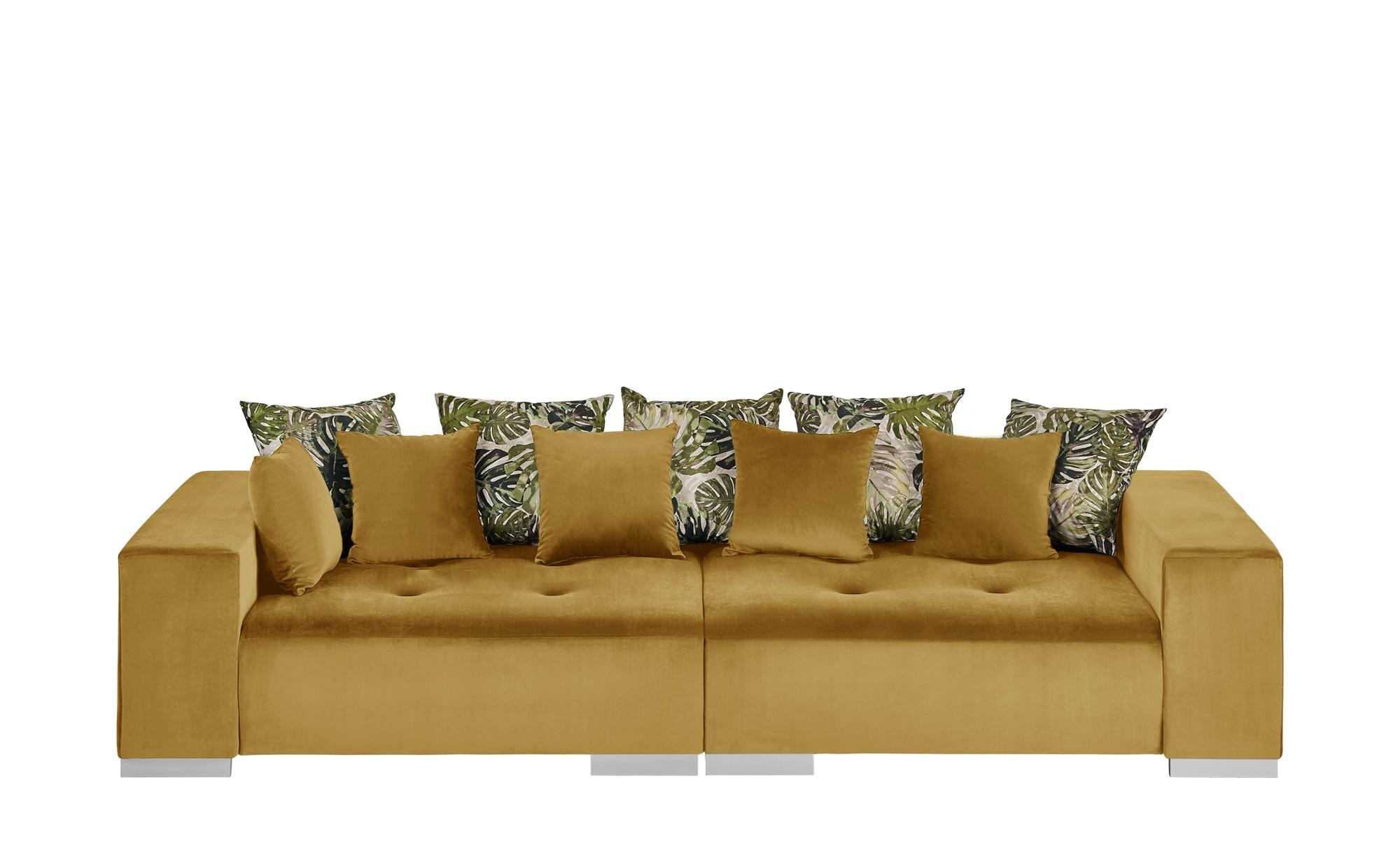 switch Big Sofa gold-gelb - Mikrofaser Kim ¦ gelb ¦ Maße (cm): B: 300 H: 85 T: 136 Polstermöbel > Sofas > Big-Sofas - Höffner