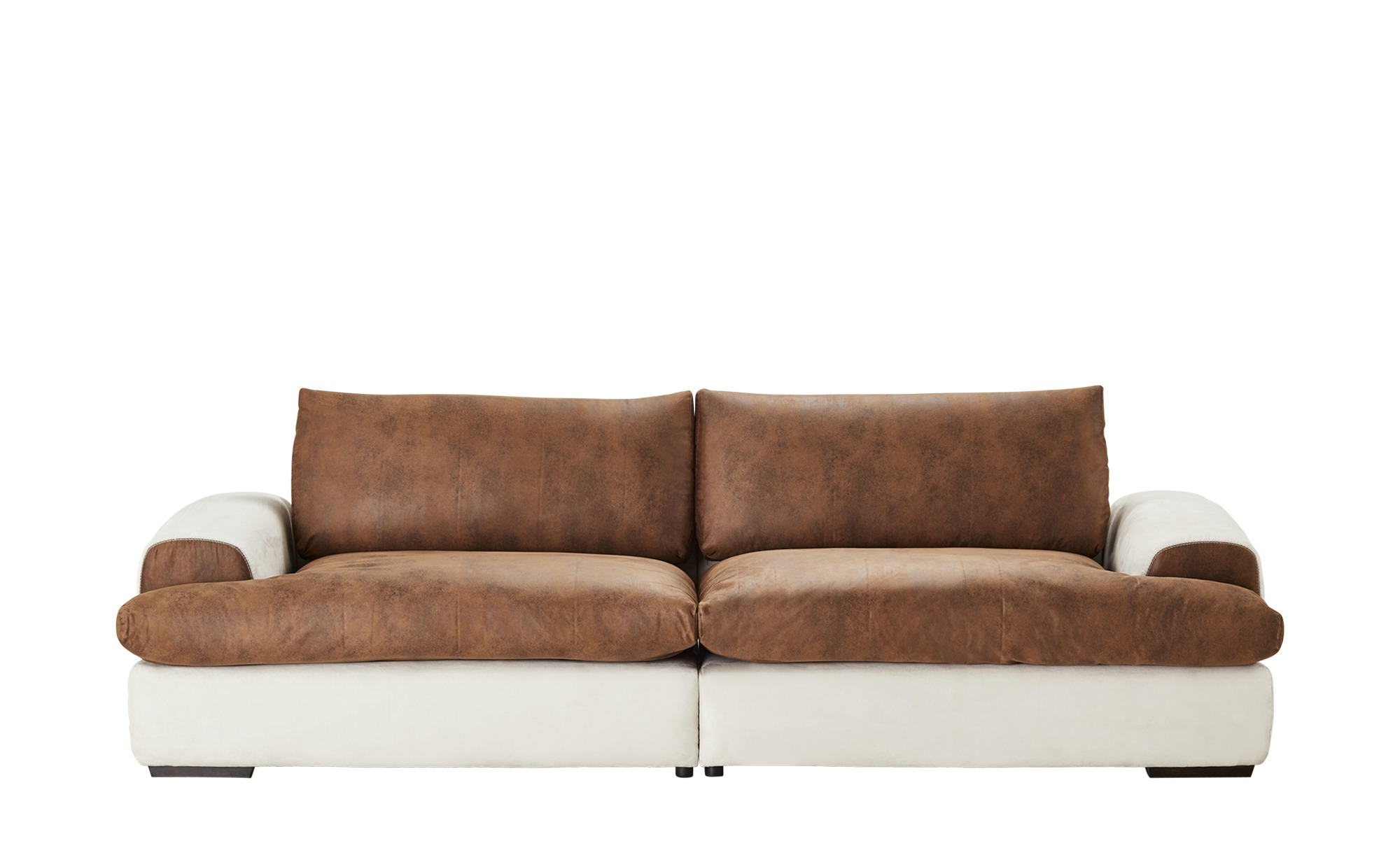 Big Sofa weiß/braun - Flachgewebe/Mikrofaser Gracie ¦ braun ¦ Maße (cm): B: 280 H: 85 T: 108 Polstermöbel > Sofas > Big-Sofas - Höffner