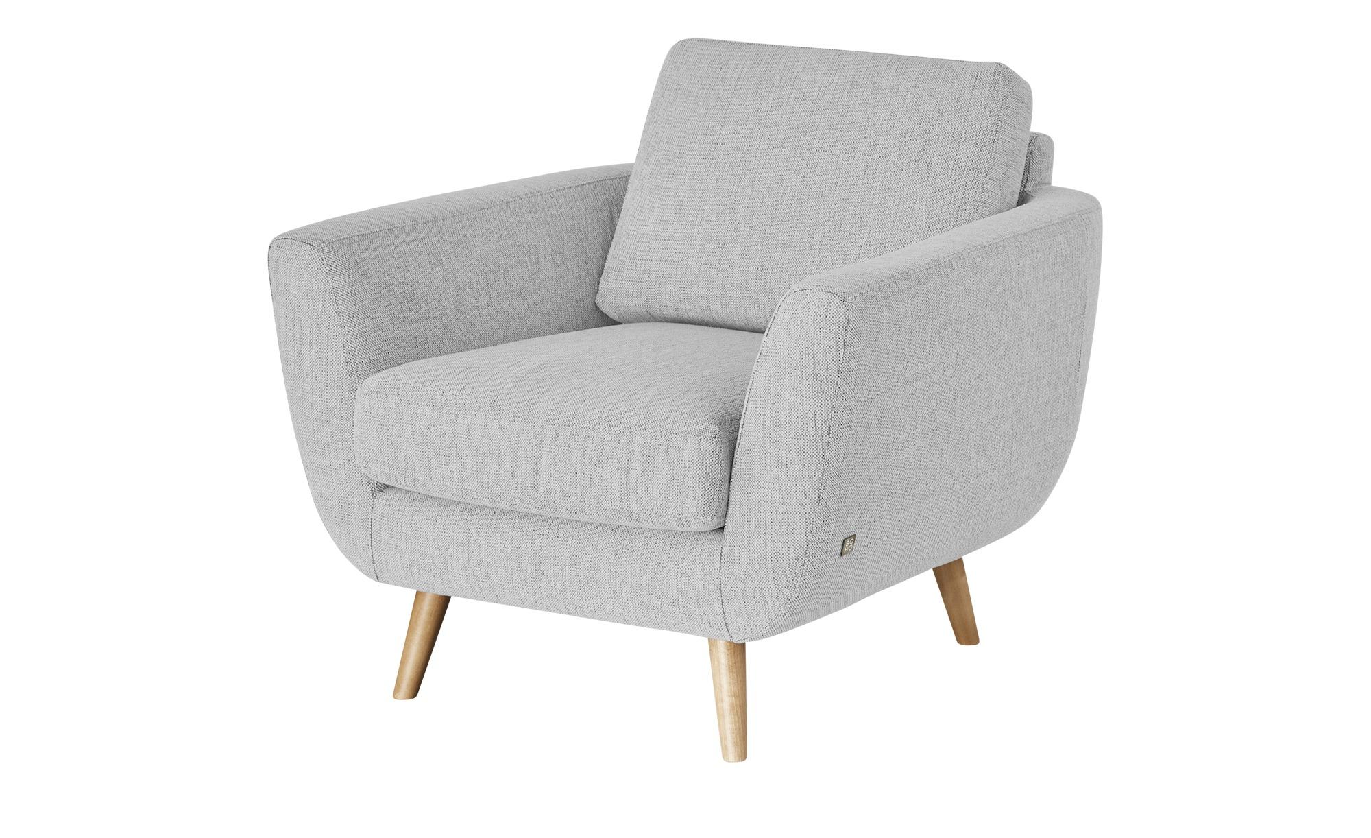 SOHO Sessel grau - Stoff Smilla ¦ grau ¦ Maße (cm): B: 94 H: 85 T: 93 Polstermöbel > Sessel > Ohrensessel - Höffner