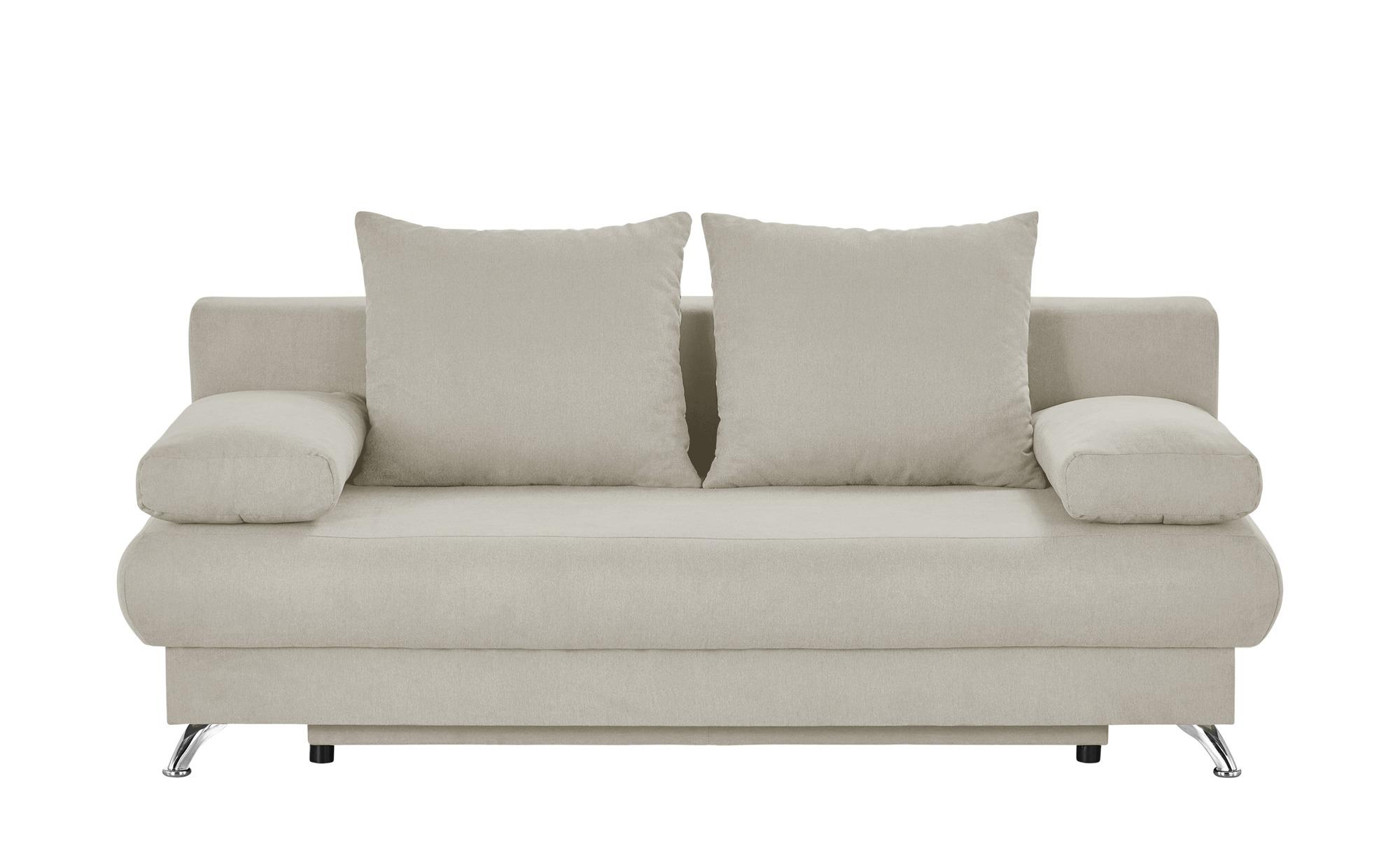 Schlafsofa weiß - Flachgewebe Viola ¦ weiß ¦ Maße (cm): B: 203 H: 72 T: 93 Polstermöbel > Sofas > 2-Sitzer - Höffner