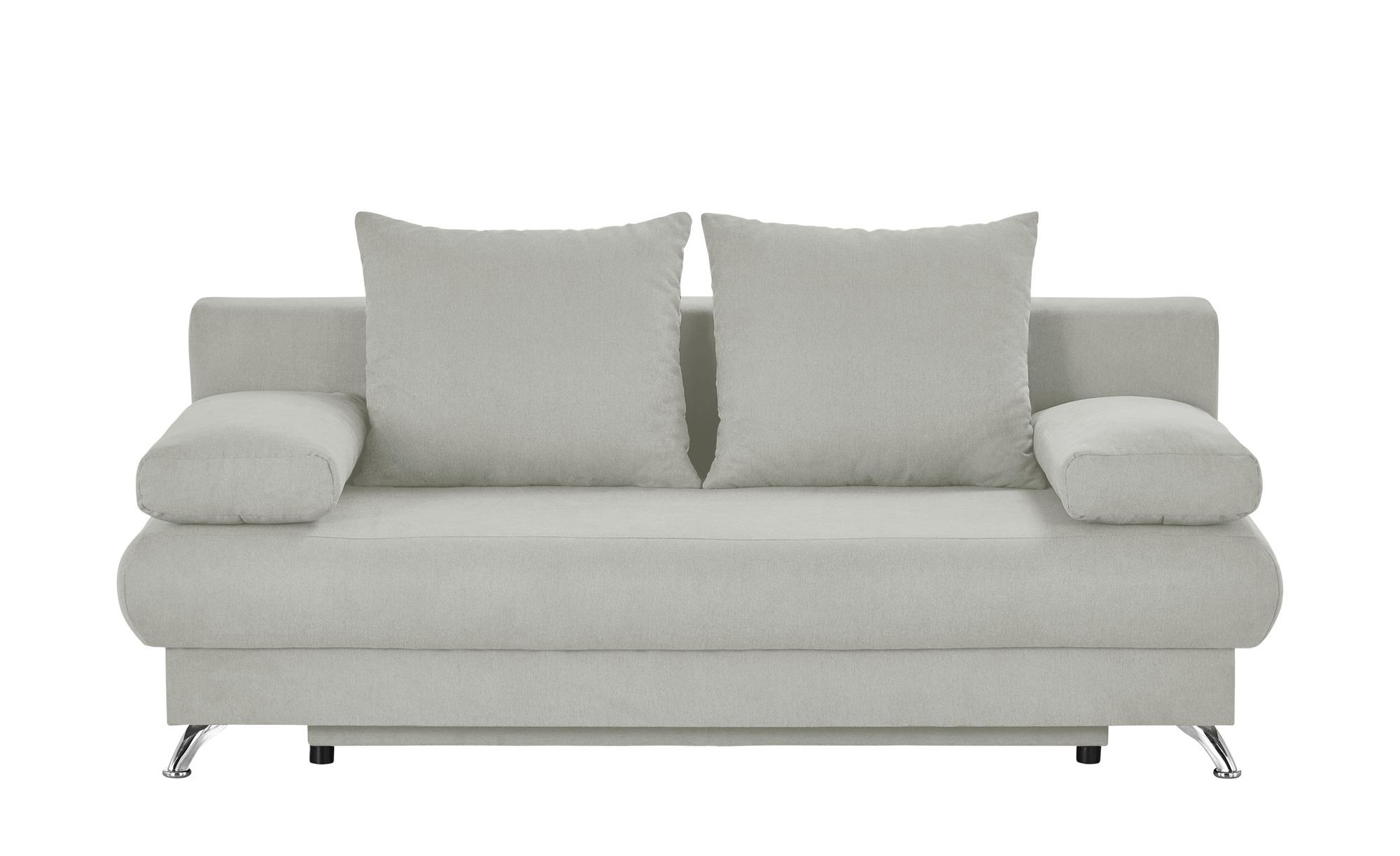 Schlafsofa grau - Flachgewebe Viola ¦ grau ¦ Maße (cm): B: 203 H: 72 T: 93 Polstermöbel > Sofas > 2-Sitzer - Höffner