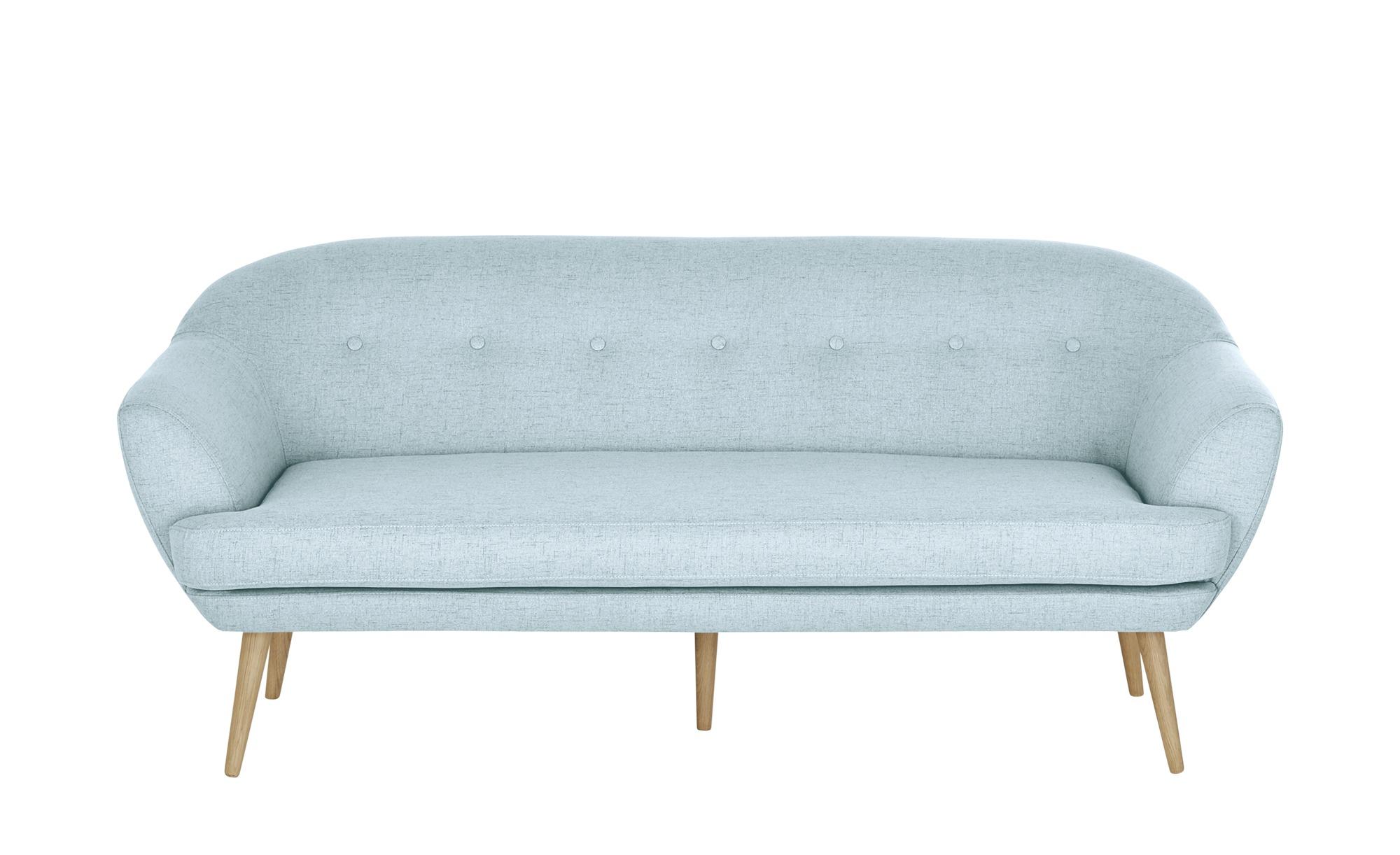 finya Sofa hellblau - Webstoff Elsa ¦ Maße (cm): B: 185 H: 77 T: 88 Polstermöbel > Sofas > 3-Sitzer - Höffner