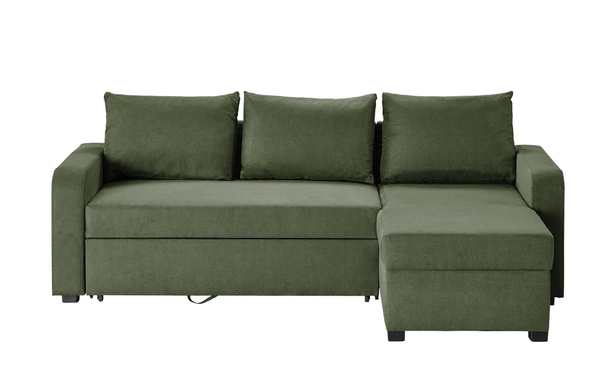 Ecksofa grün - Mikrofaser Cassy ¦ grün ¦ Maße (cm): B: 225 H: 83 T: 152 Polstermöbel > Sofas > Einzelsofas - Höffner