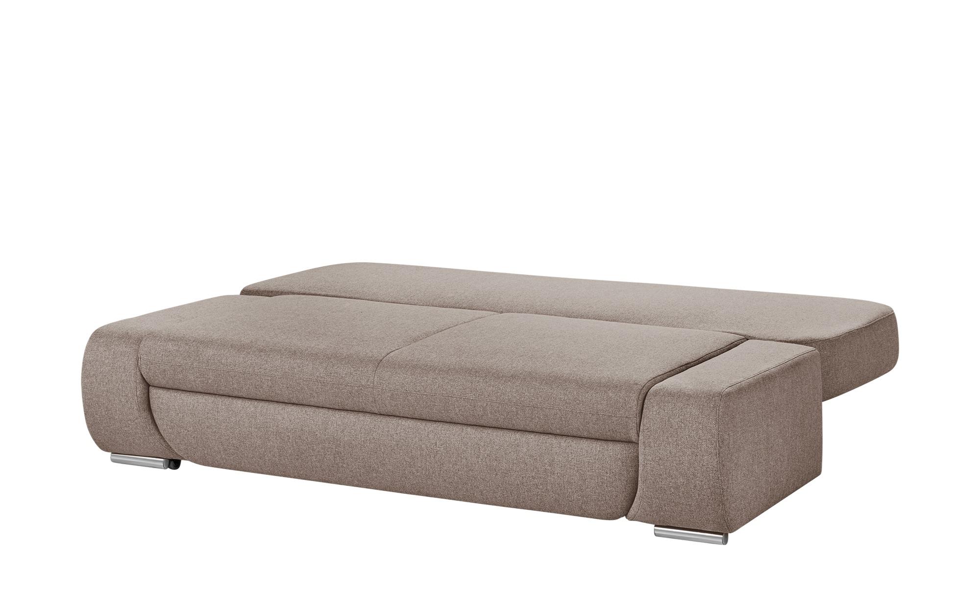smart Schlafsofa braun - Webstoff Bonita ¦ braun ¦ Maße (cm): B: 210 H: 87 T: 100 Polstermöbel > Sofas > 2-Sitzer - Höffner