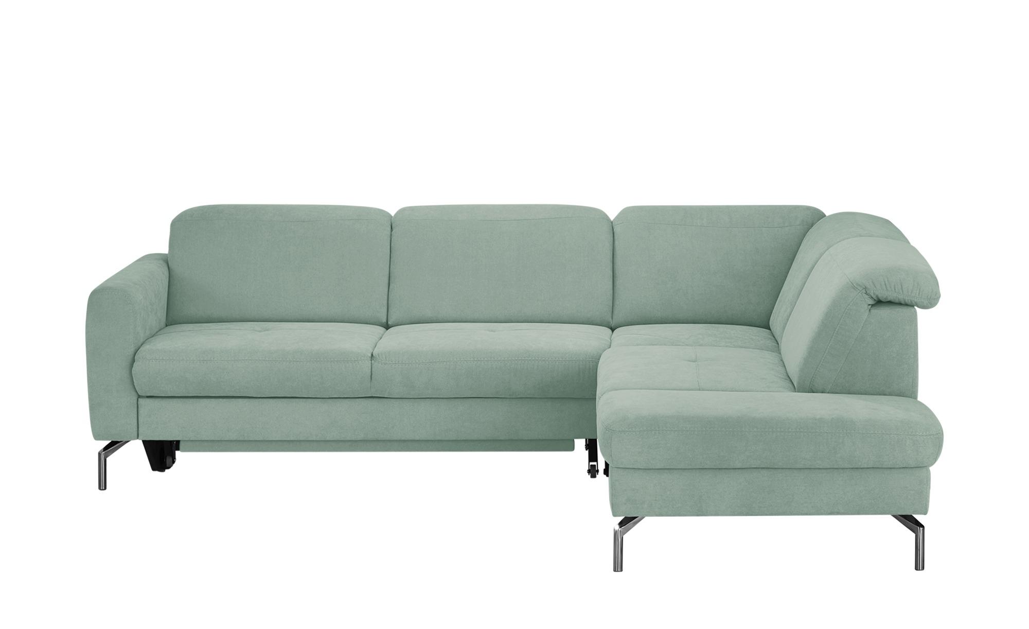 Ecksofa mintgrün - Webstoff Lea ¦ grün ¦ Maße (cm): H: 87 Polstermöbel > Sofas > Ecksofas - Höffner