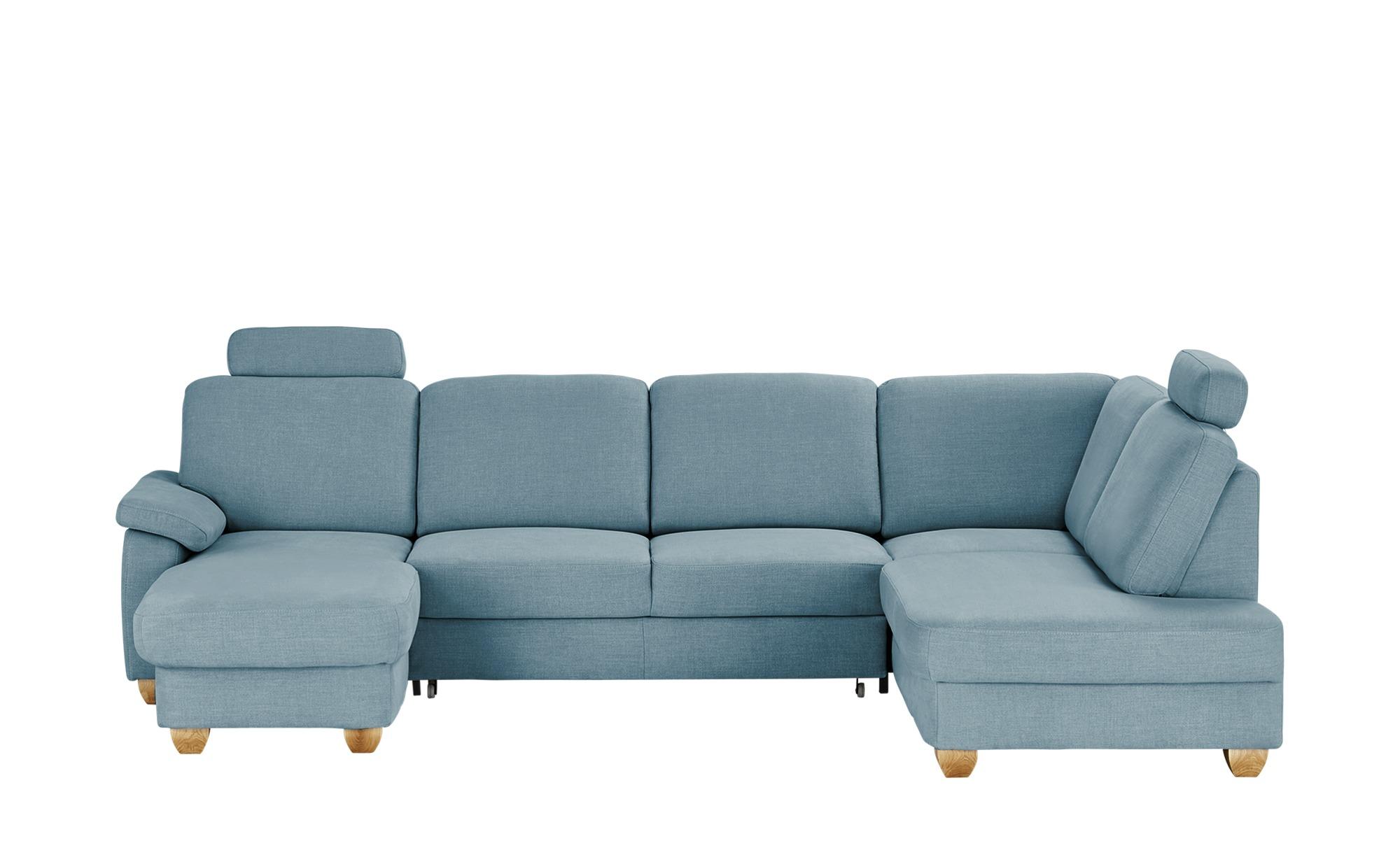 meinSofa Wohnlandschaft  blau - Webstoff Oliver-S ¦ blau ¦ Maße (cm): H: 85 Polstermöbel > Sofas > Schlafsofas - Höffner