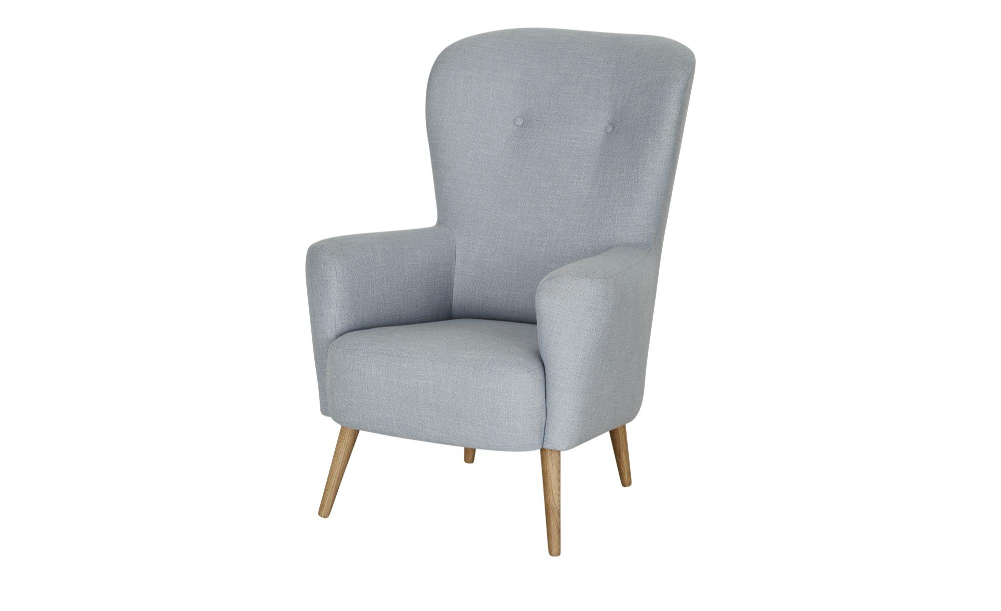finya Sessel  Ahne ¦ blau ¦ Maße (cm): B: 79 H: 112 T: 80 Polstermöbel > Sessel > Polstersessel - Höffner