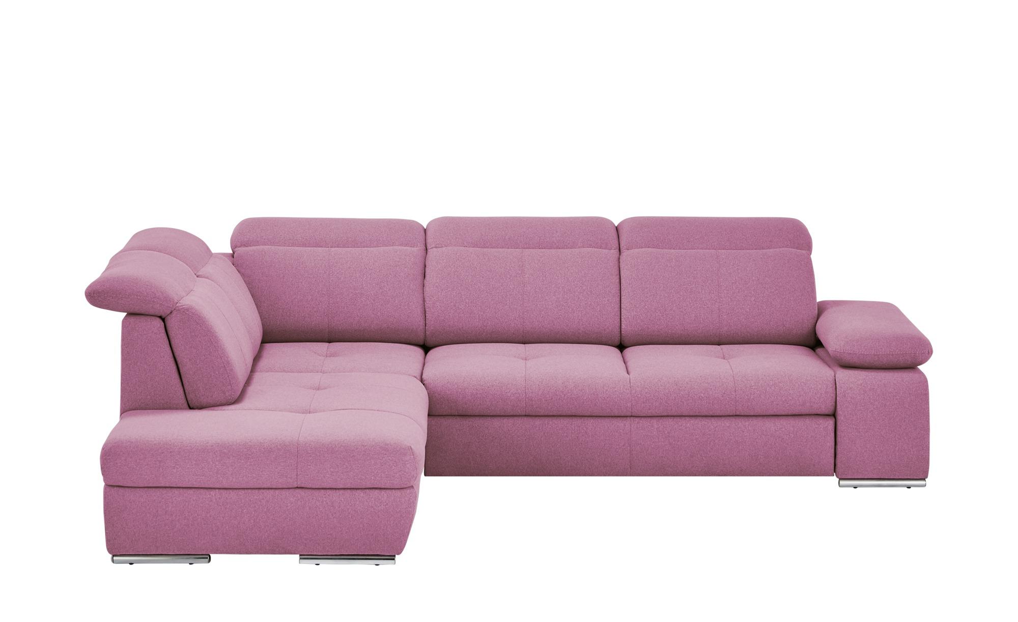 switch Ecksofa pink - Webstoff Avilla ¦ rosa/pink ¦ Maße (cm): H: 86 Polstermöbel > Sofas > Ecksofas - Höffner