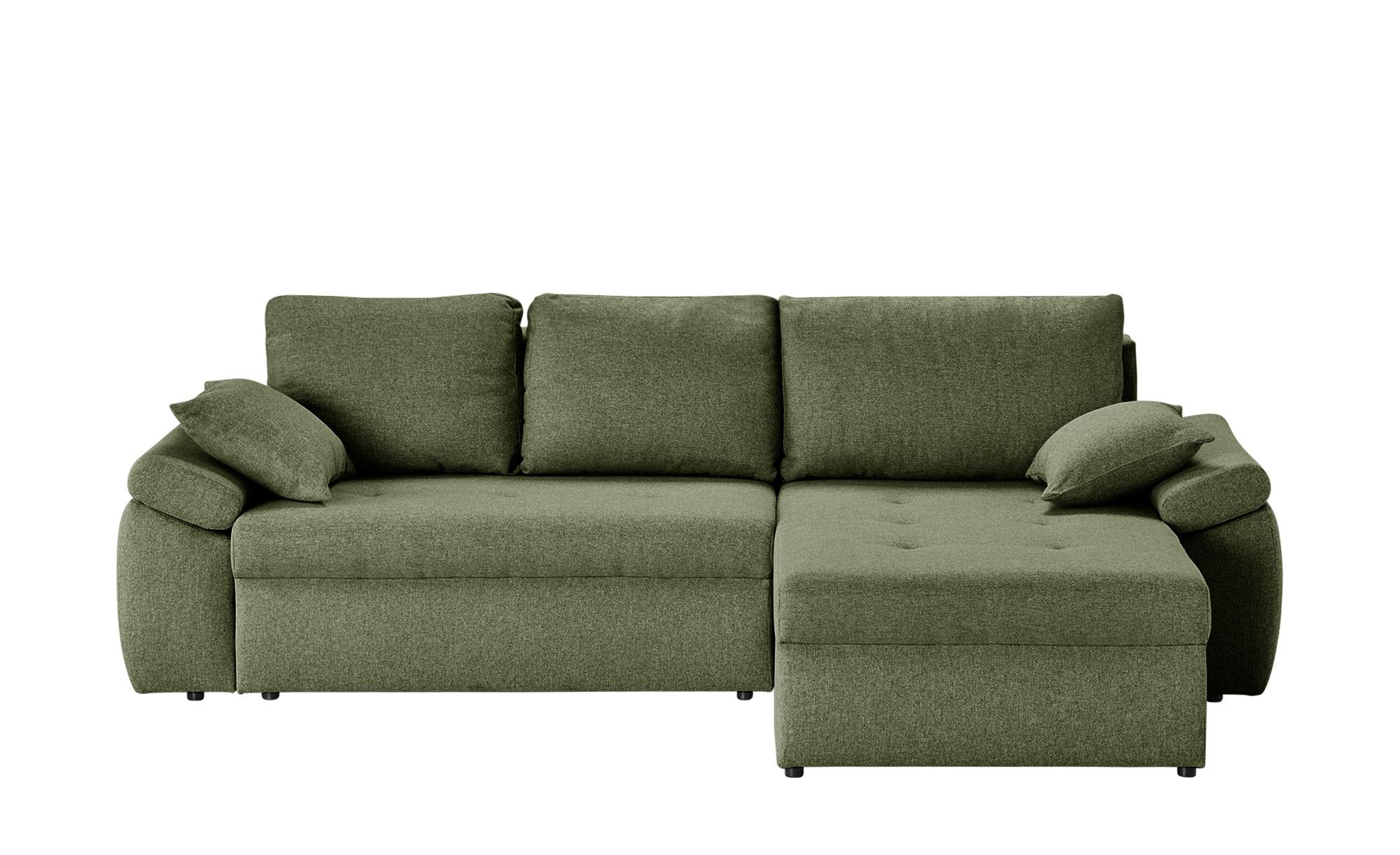 Ecksofa  Leonie ¦ grün ¦ Maße (cm): B: 220 H: 85 T: 160 Polstermöbel > Sofas > Ecksofas - Höffner