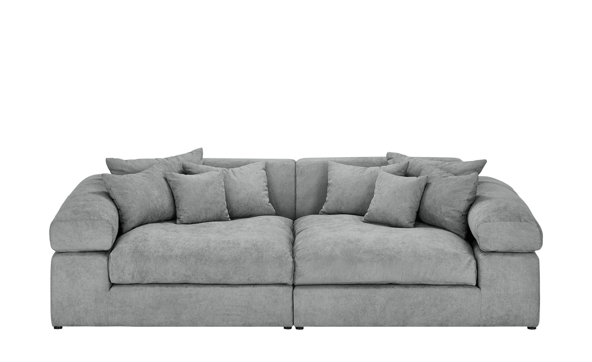 smart Big Sofa grau - Flachgewebe Lianea ¦ grau ¦ Maße (cm): B: 276 H: 78 T: 135 Polstermöbel > Sofas > Big-Sofas - Höffner