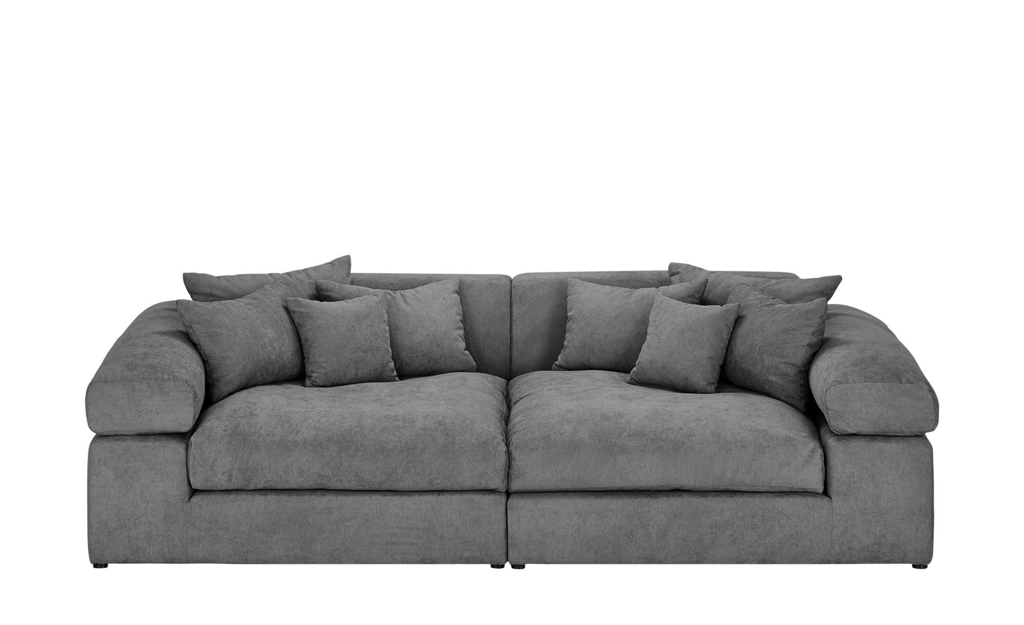 smart big sofa grau flachgewebe lianea grau. Black Bedroom Furniture Sets. Home Design Ideas