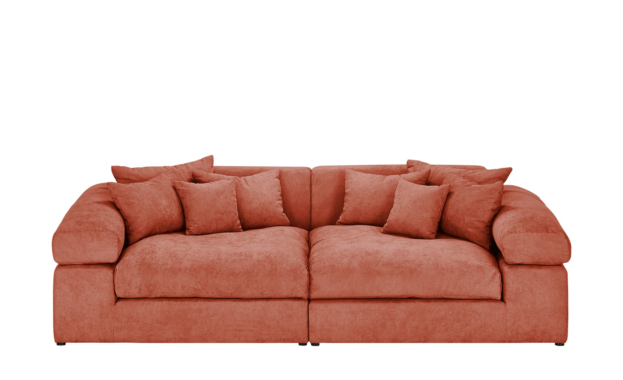 smart Big Sofa orange - Flachgewebe Lianea ¦ orange ¦ Maße (cm): B: 276 H: 78 T: 135 Polstermöbel > Sofas > Big-Sofas - Höffner