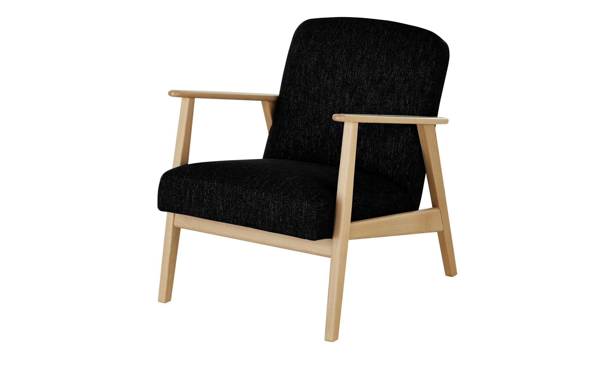 smart Sessel  Rada ¦ schwarz ¦ Maße (cm): B: 64 H: 76 T: 83 Polstermöbel > Sessel > Polstersessel - Höffner