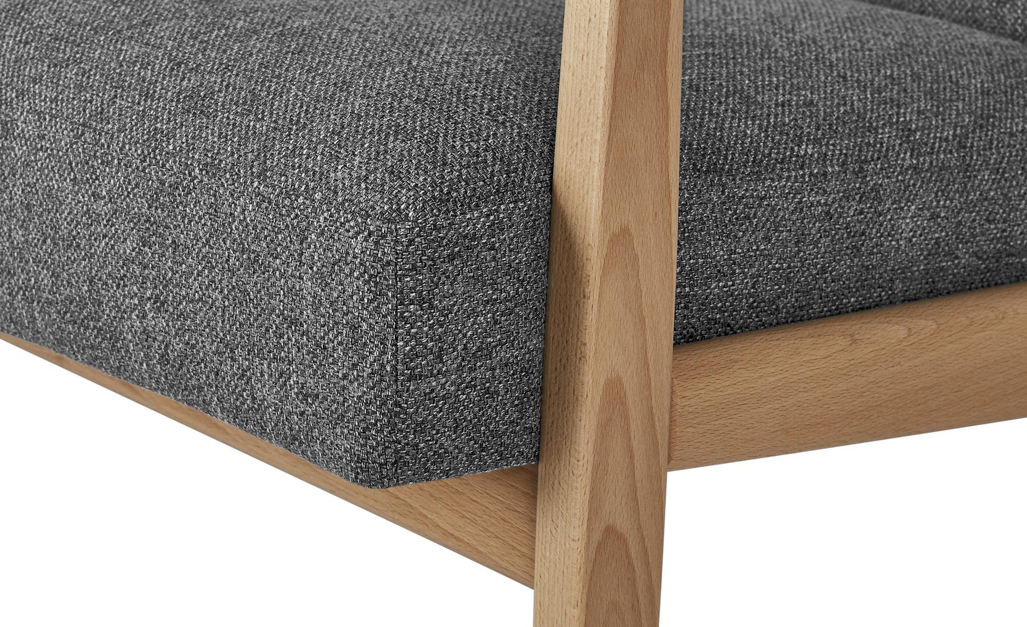smart Sofa  Rada ¦ grau ¦ Maße (cm): B: 120 H: 76 T: 83 Polstermöbel > Sofas > 2-Sitzer - Höffner