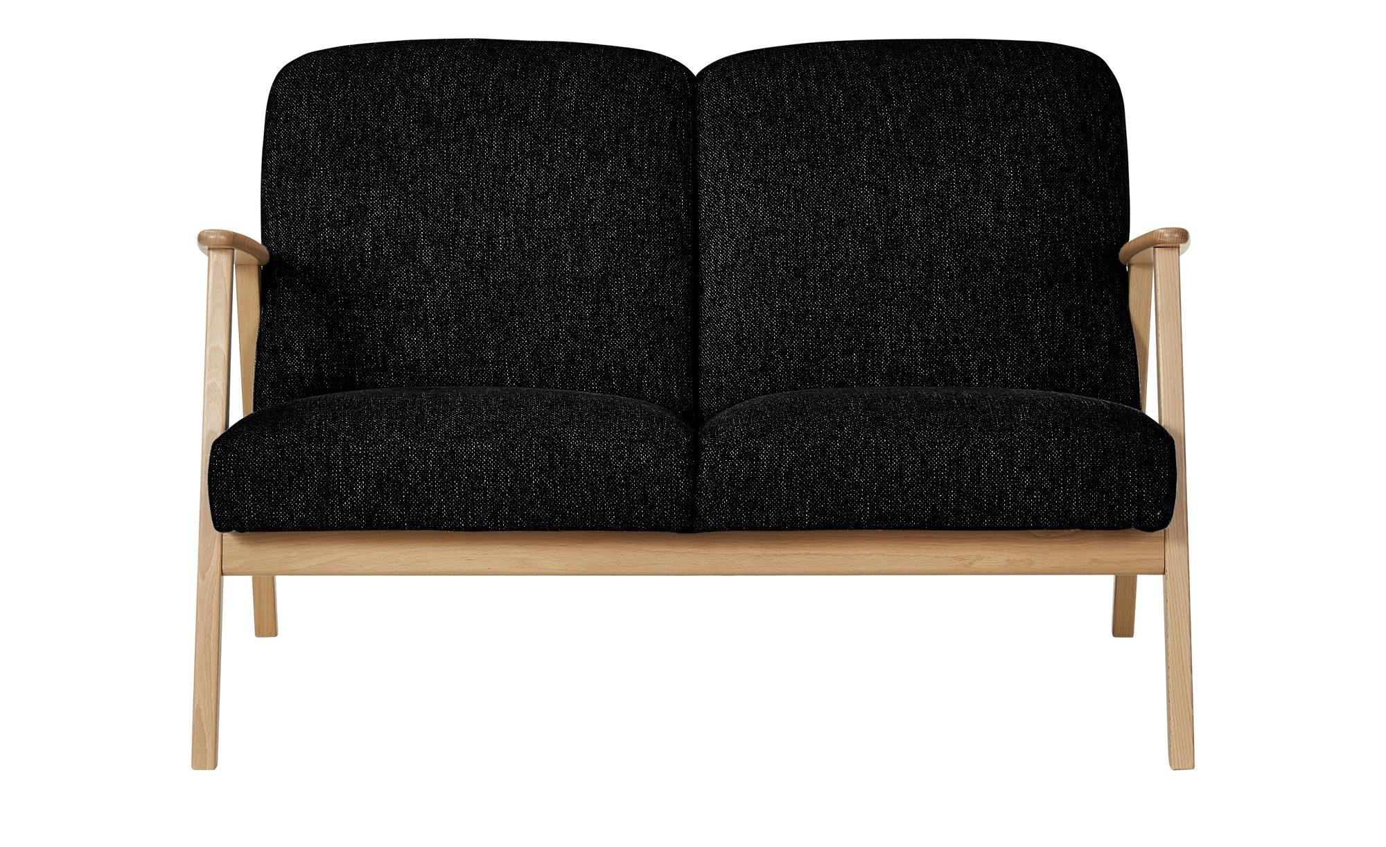 smart Sofa  Rada ¦ schwarz ¦ Maße (cm): B: 120 H: 76 T: 83 Polstermöbel > Sofas > 2-Sitzer - Höffner