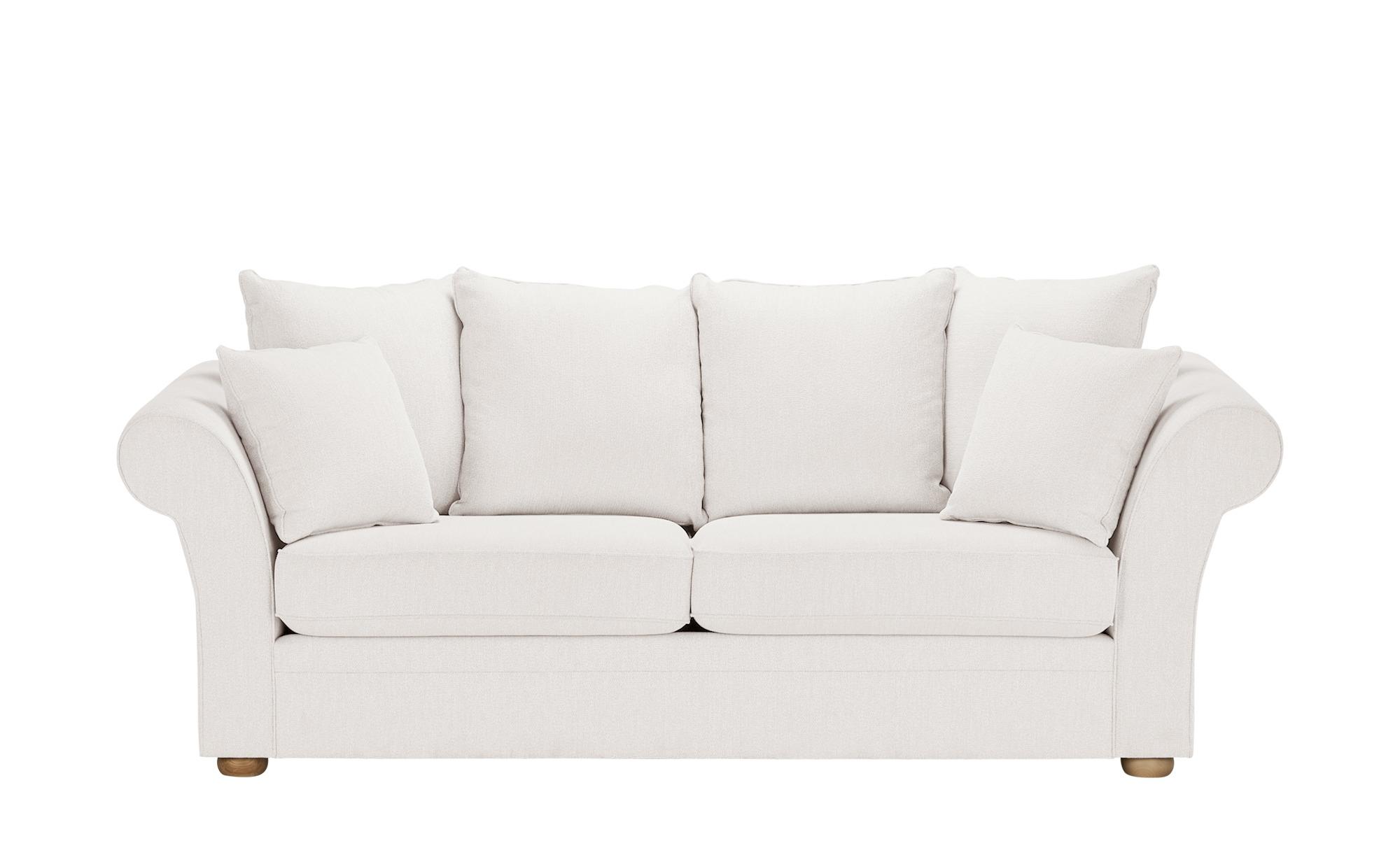 SOHO Sofa  Olivia ¦ creme ¦ Maße (cm): B: 240 H: 100 T: 98 Polstermöbel > Sofas > 3-Sitzer - Höffner