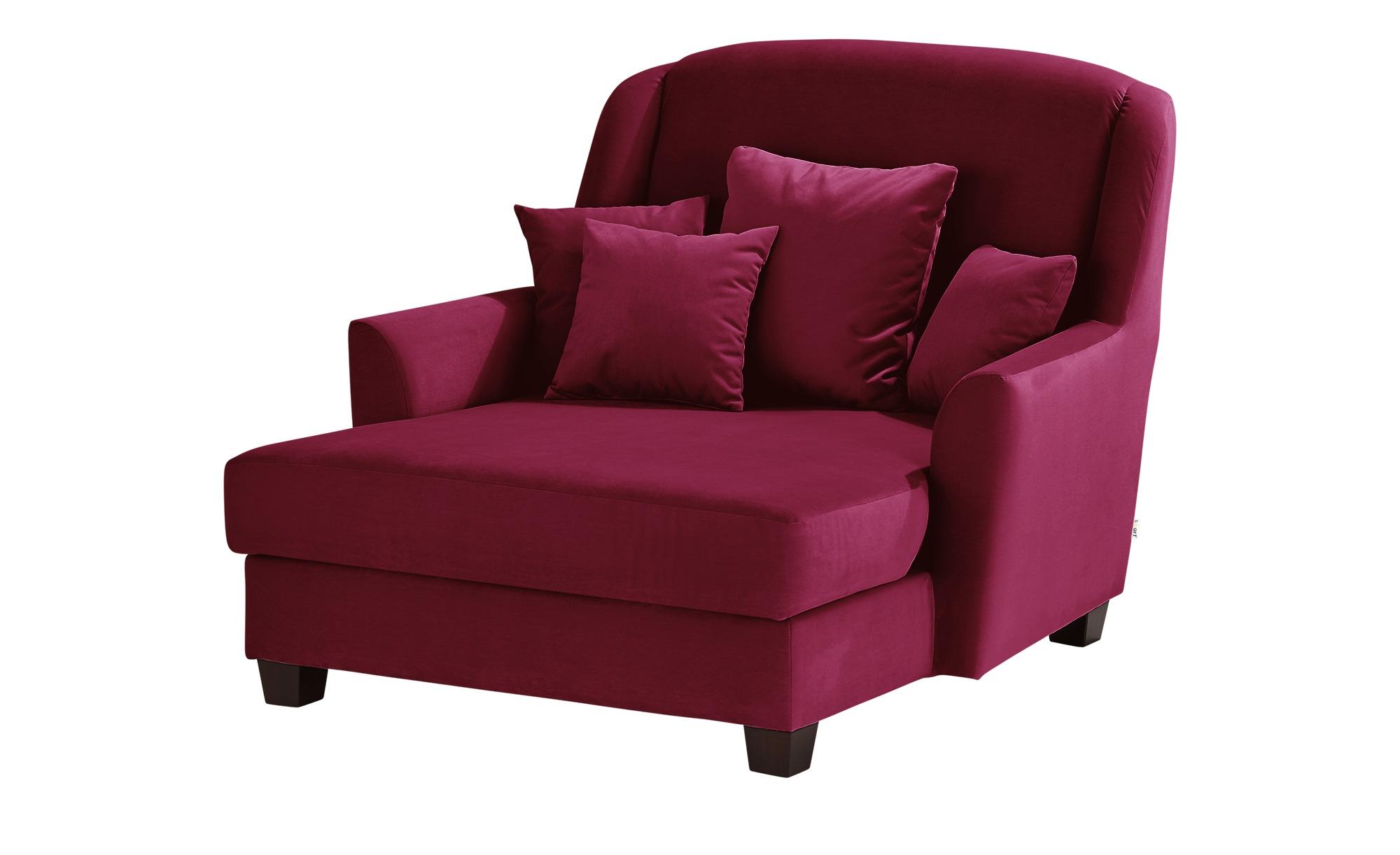 smart Sessel  Lisbeth ¦ rot ¦ Maße (cm): B: 135 H: 100 T: 144 Polstermöbel > Sessel > Ohrensessel - Höffner