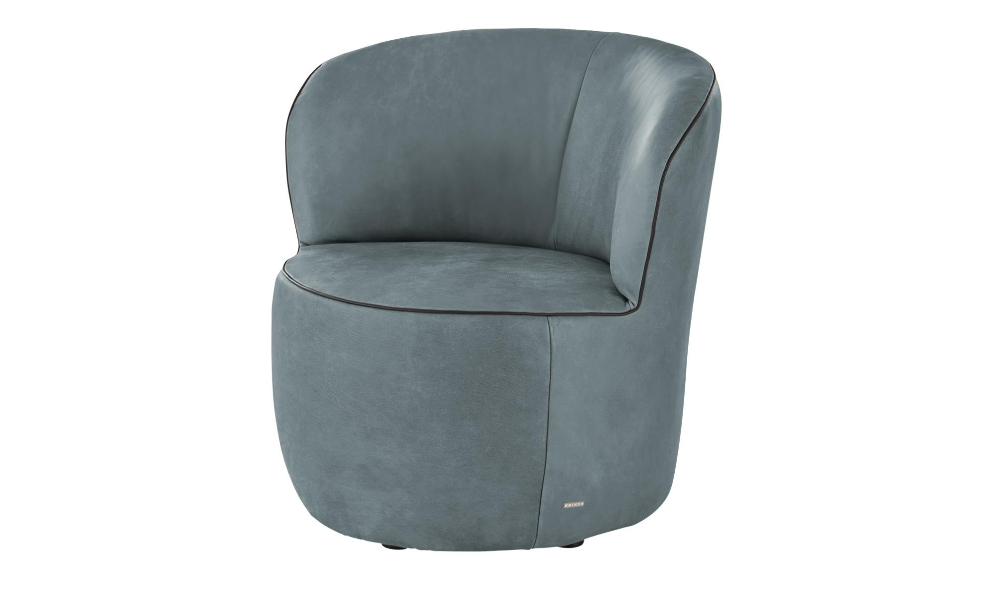 KOINOR Sessel  Igor ¦ blau ¦ Maße (cm): B: 73 H: 70 T: 72 Polstermöbel > Sessel > Ledersessel - Höffner