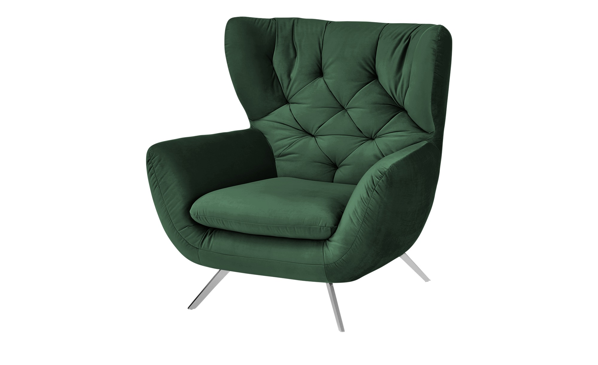 Hochlehnsessel  Caldara ¦ grün ¦ Maße (cm): B: 100 H: 106 T: 95 Polstermöbel > Sessel > Polstersessel - Höffner