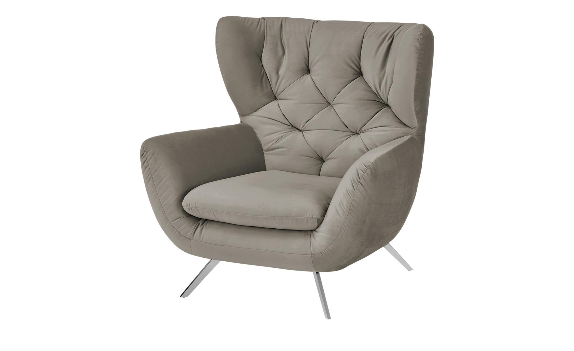pop Hochlehnsessel  Caldara ¦ grau ¦ Maße (cm): B: 100 H: 106 T: 95 Polstermöbel > Sessel > Polstersessel - Höffner