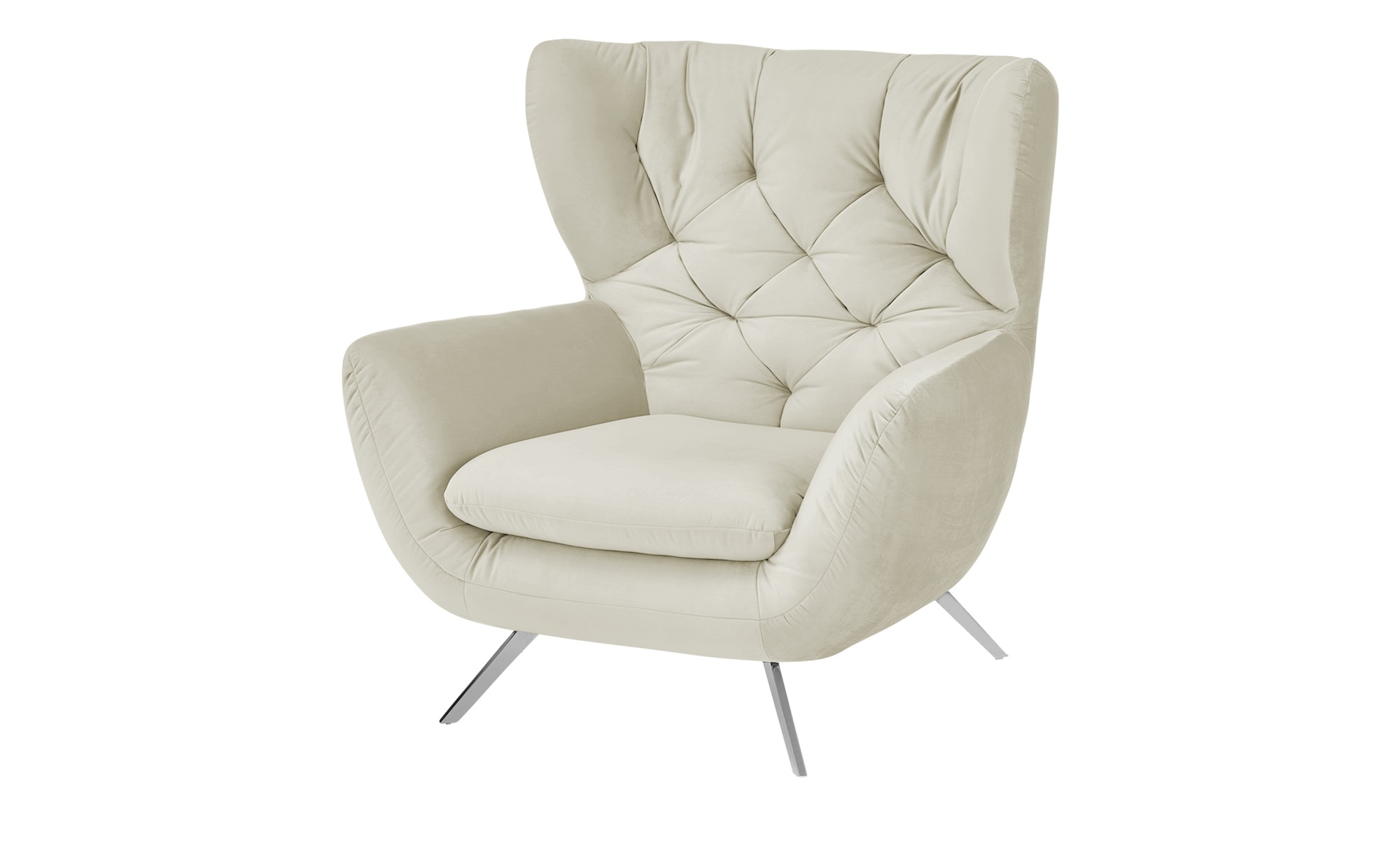 pop Hochlehnsessel  Caldara ¦ creme ¦ Maße (cm): B: 100 H: 106 T: 95 Polstermöbel > Sessel > Ohrensessel - Höffner