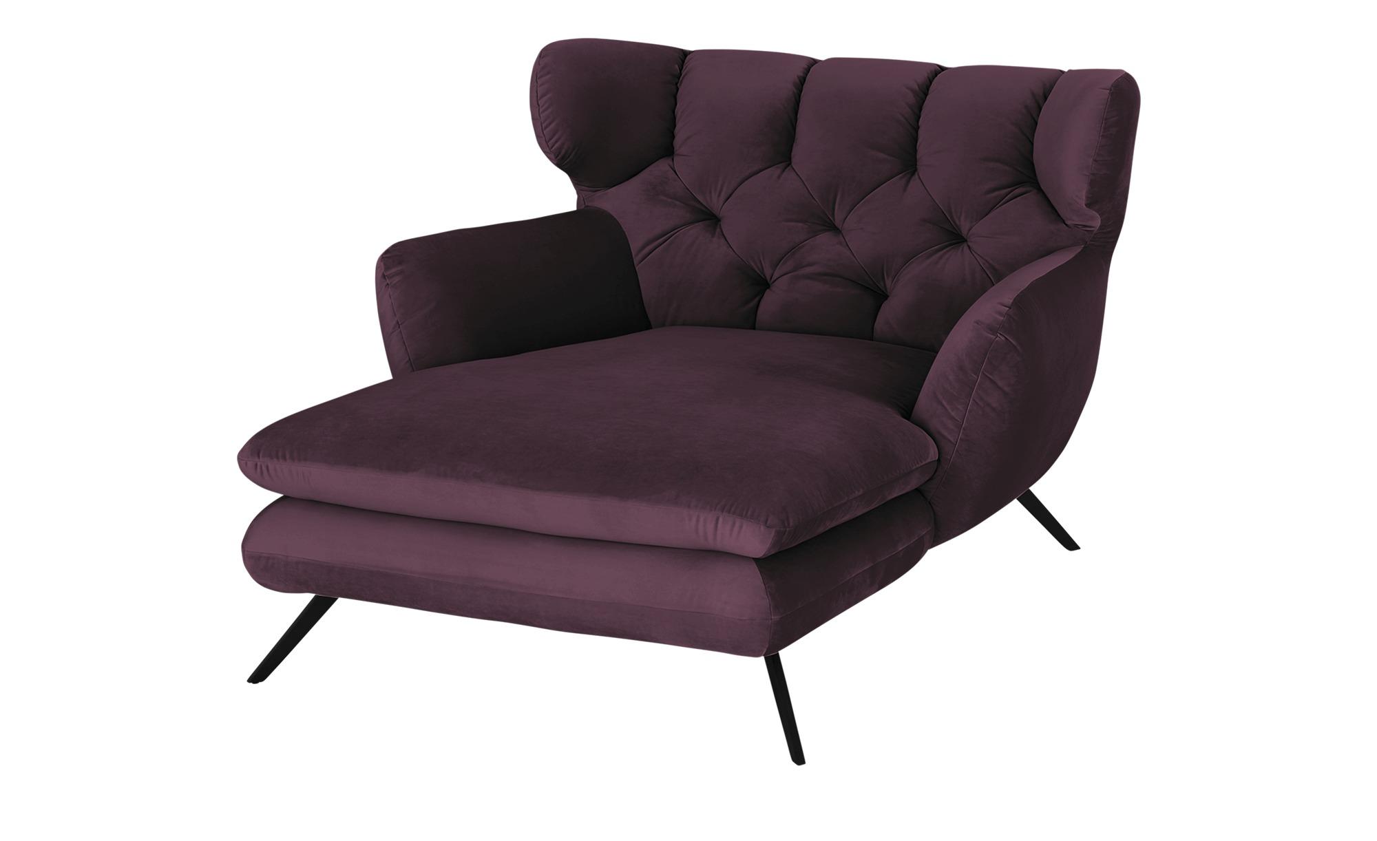 pop Longseat-Sessel  Caldara ¦ lila/violett ¦ Maße (cm): B: 126 H: 94 T: 160 Polstermöbel > Sessel > Ohrensessel - Höffner